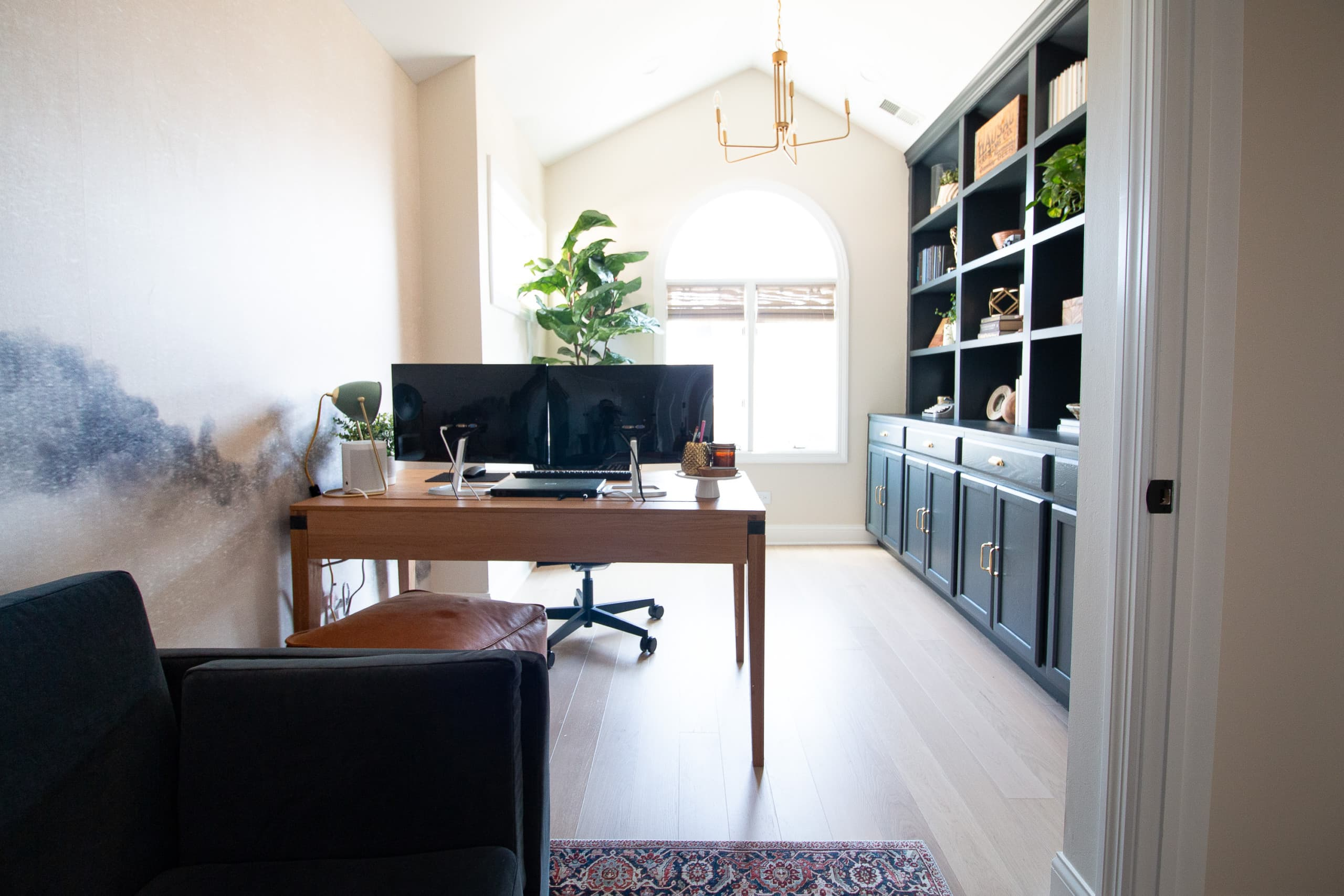 Our new work from home office setup with two monitors