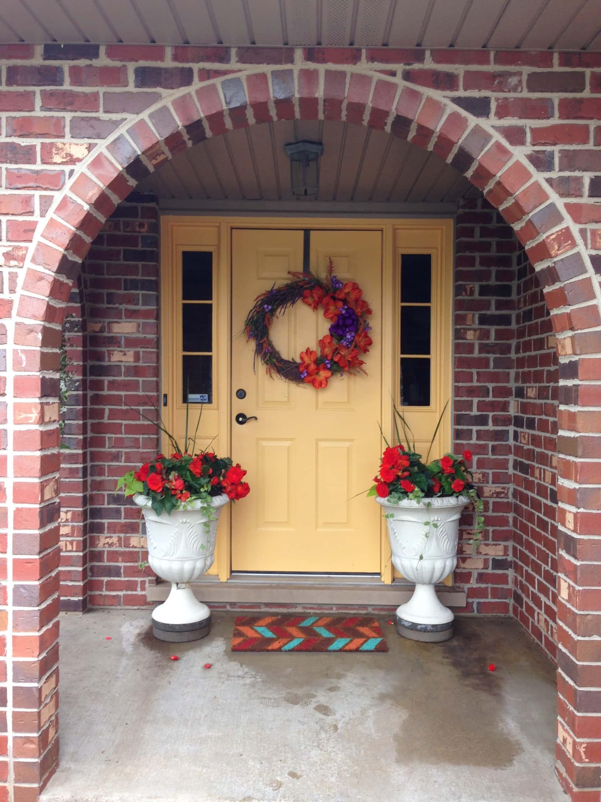Jan's yellow front door