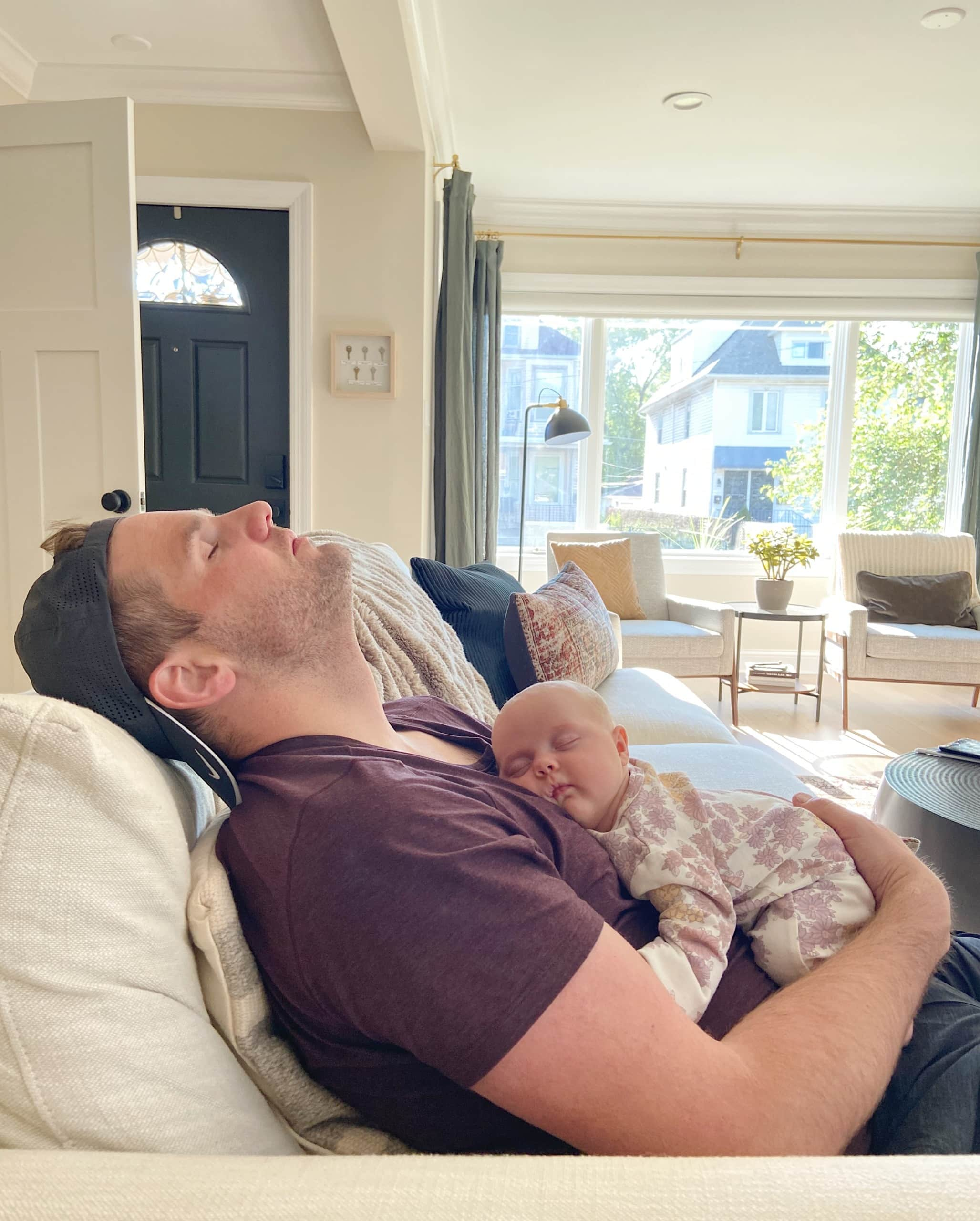 Finn resting with baby Rory