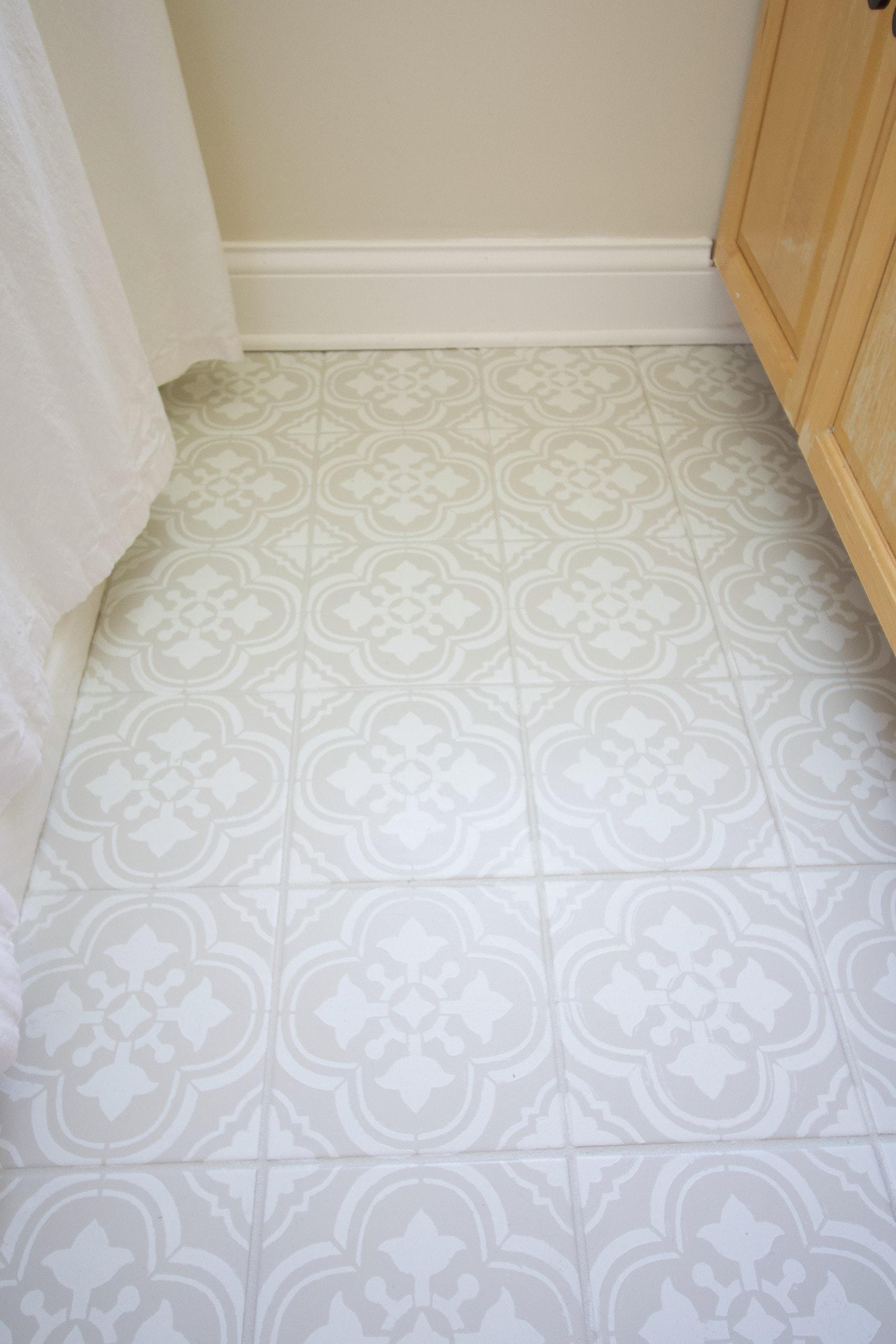 My bathroom floor tile