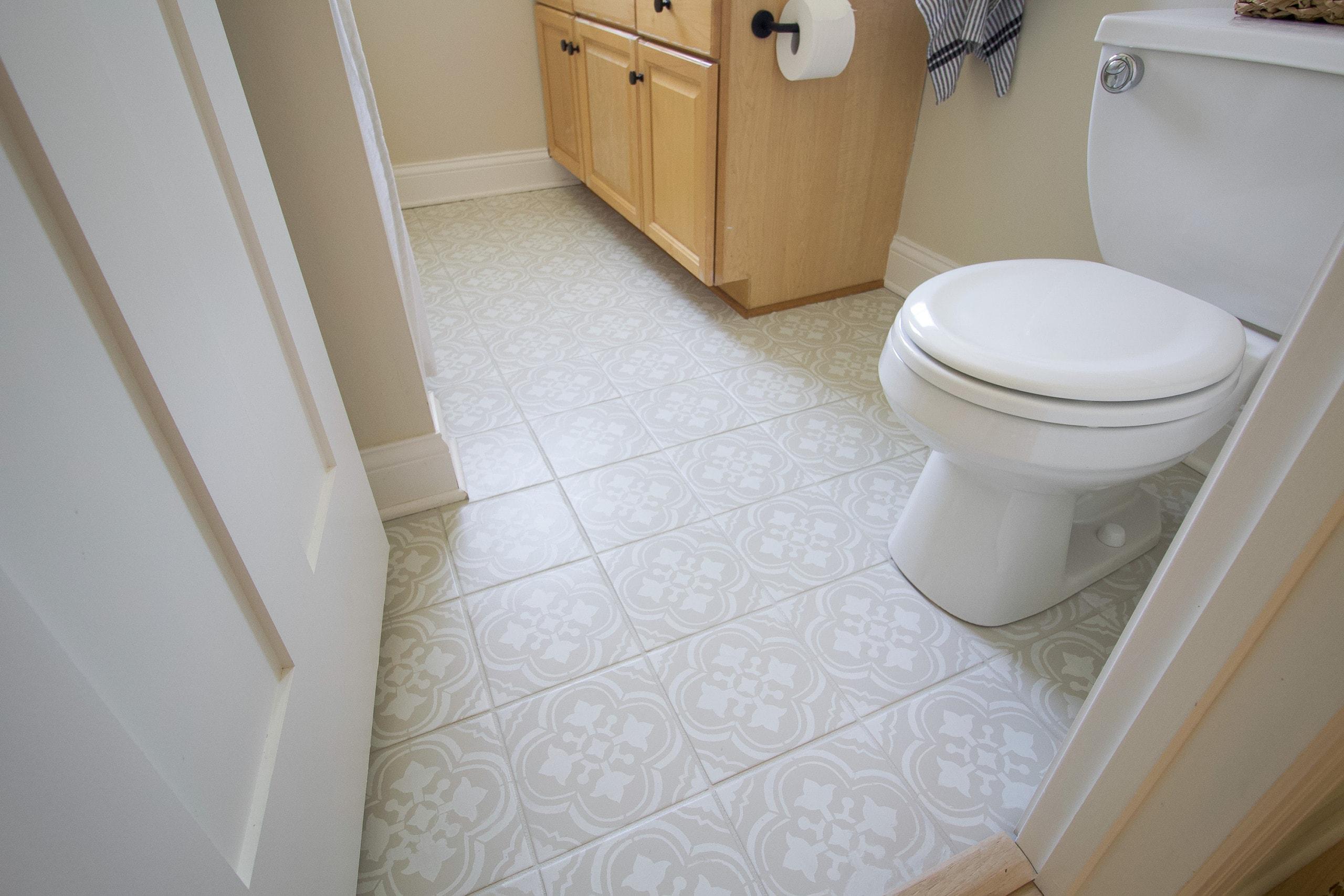 How to paint tile floor