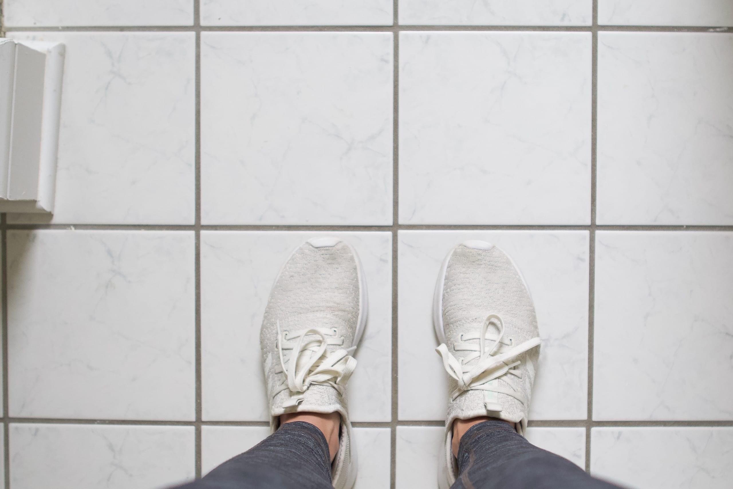 My floor tile before painting