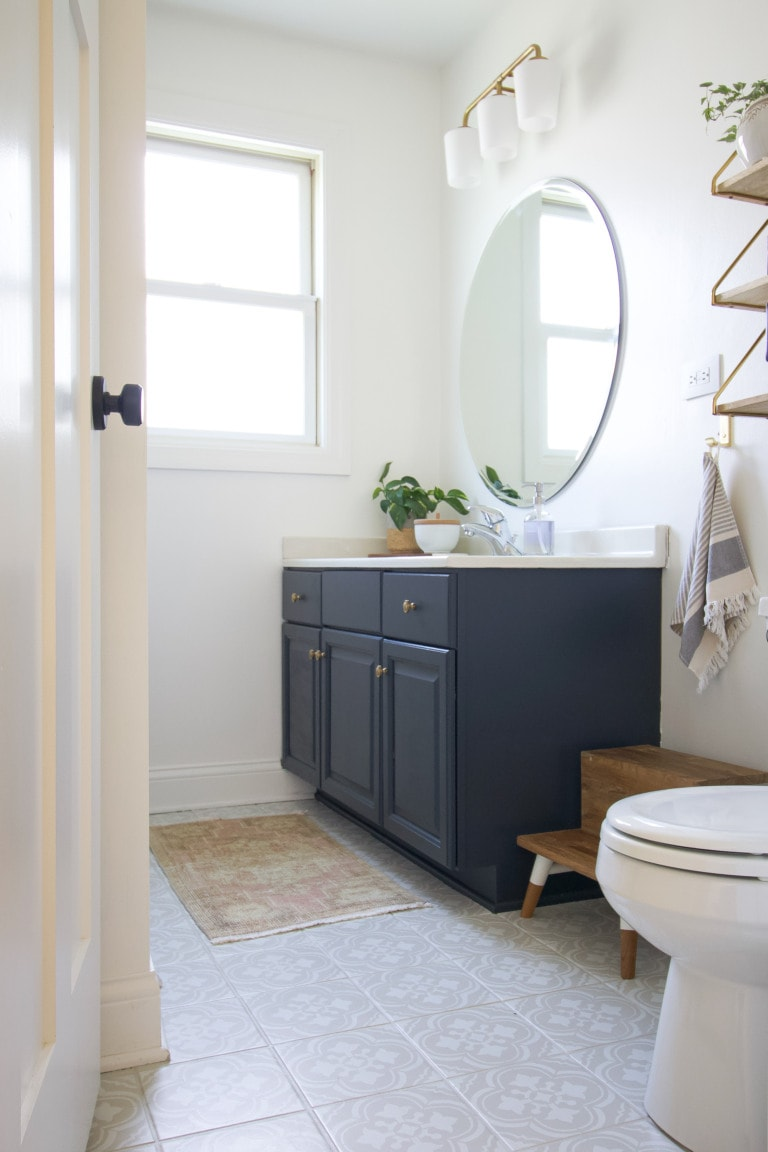 A look at our budget-friendly guest bathroom refresh