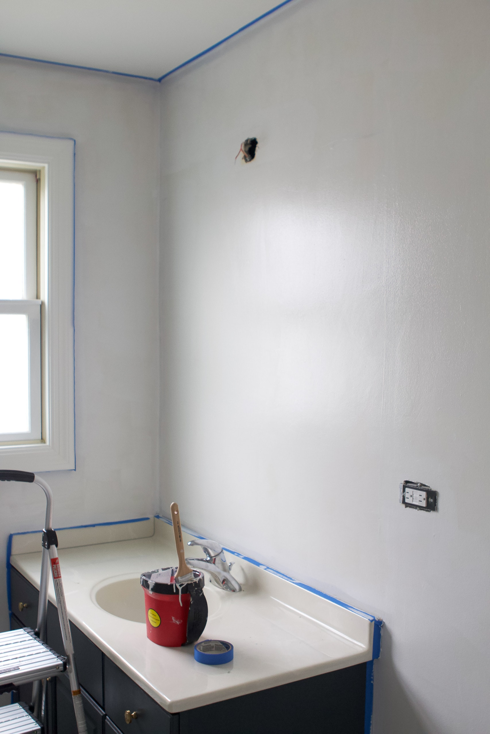 painting a bathroom