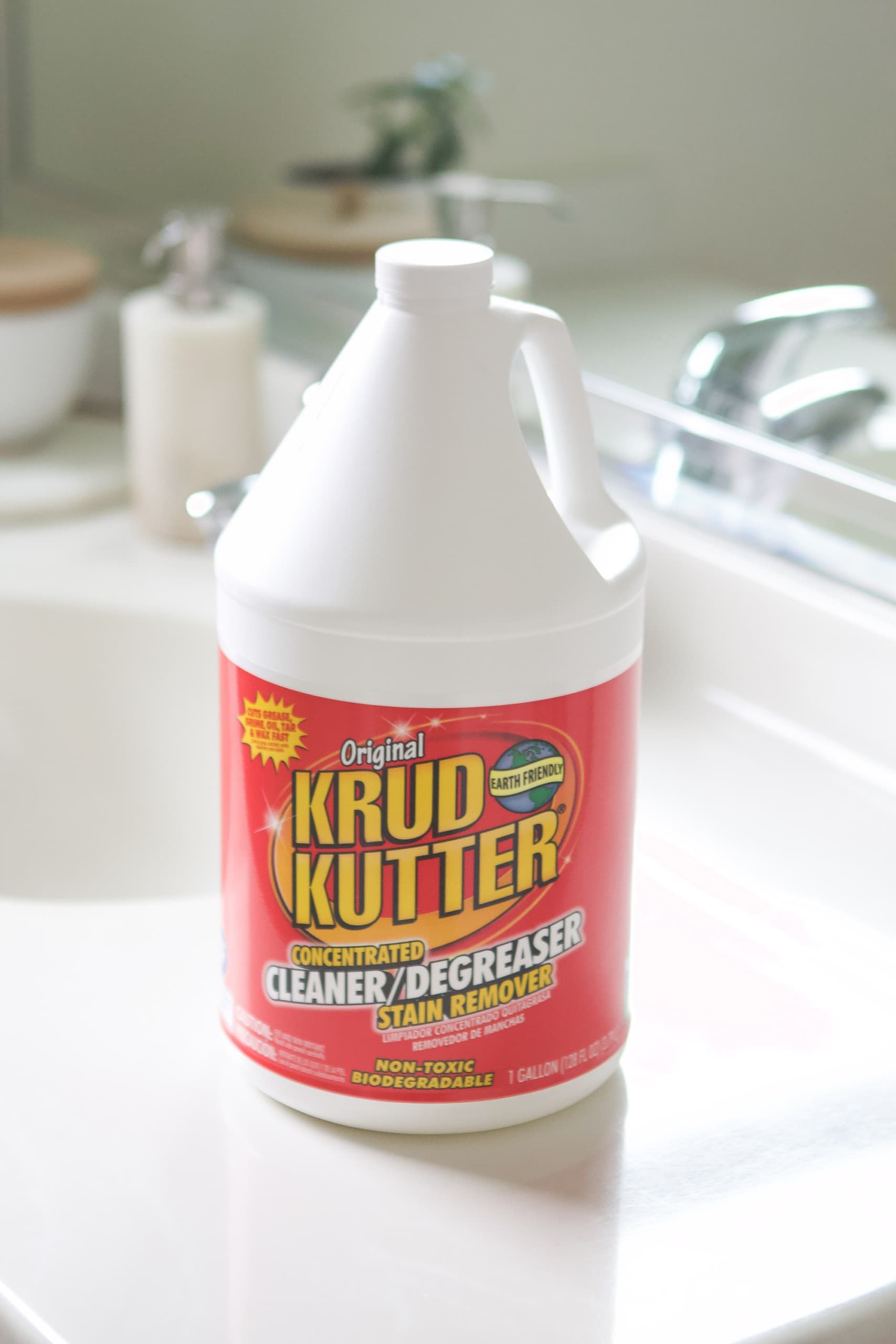 Use krud kutter to clean your floors really well