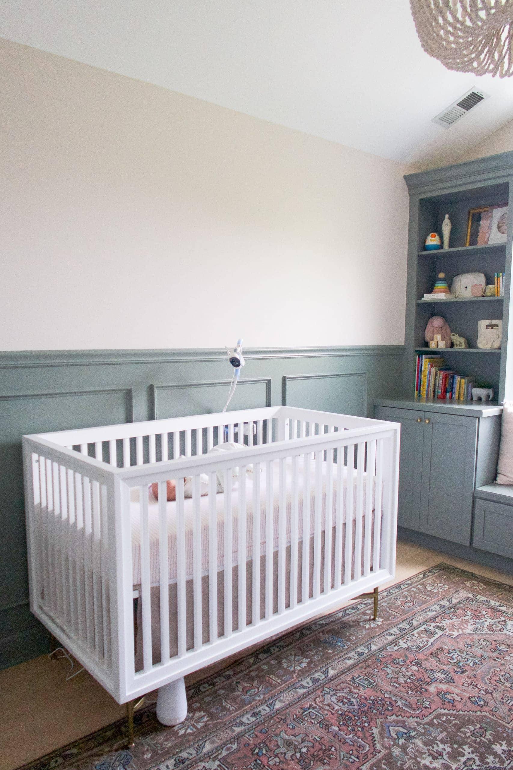 Rory sleeping in her crib