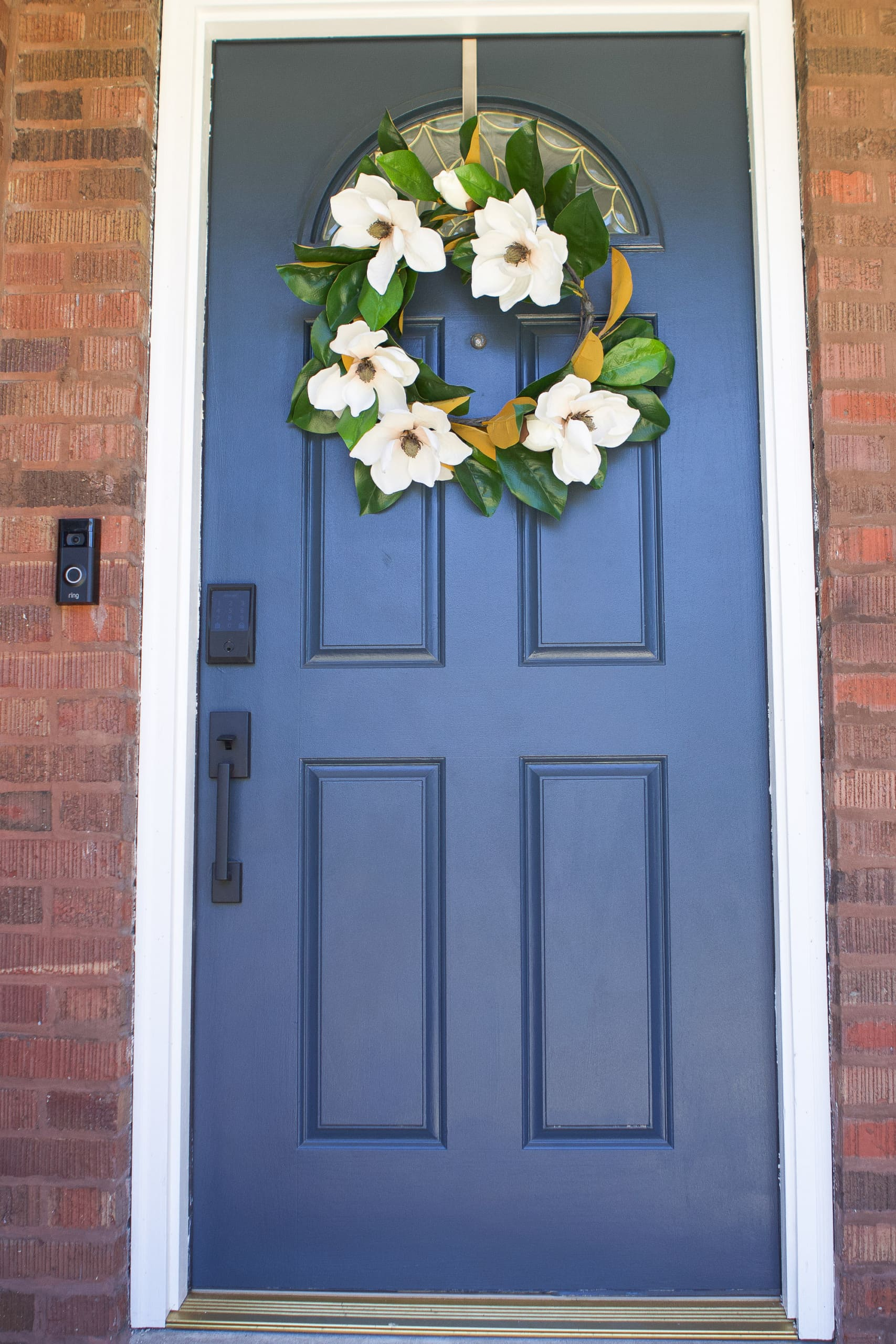 Our blue front door