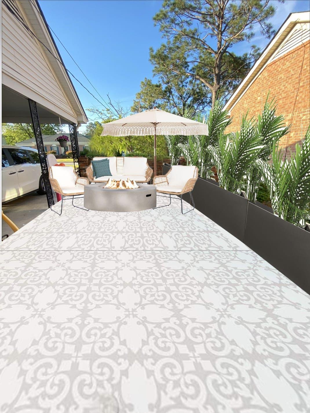 How to transform a concrete patio