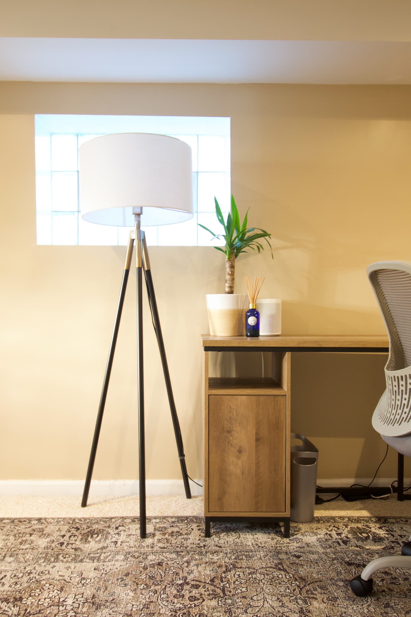 Adding a lamp to the basement