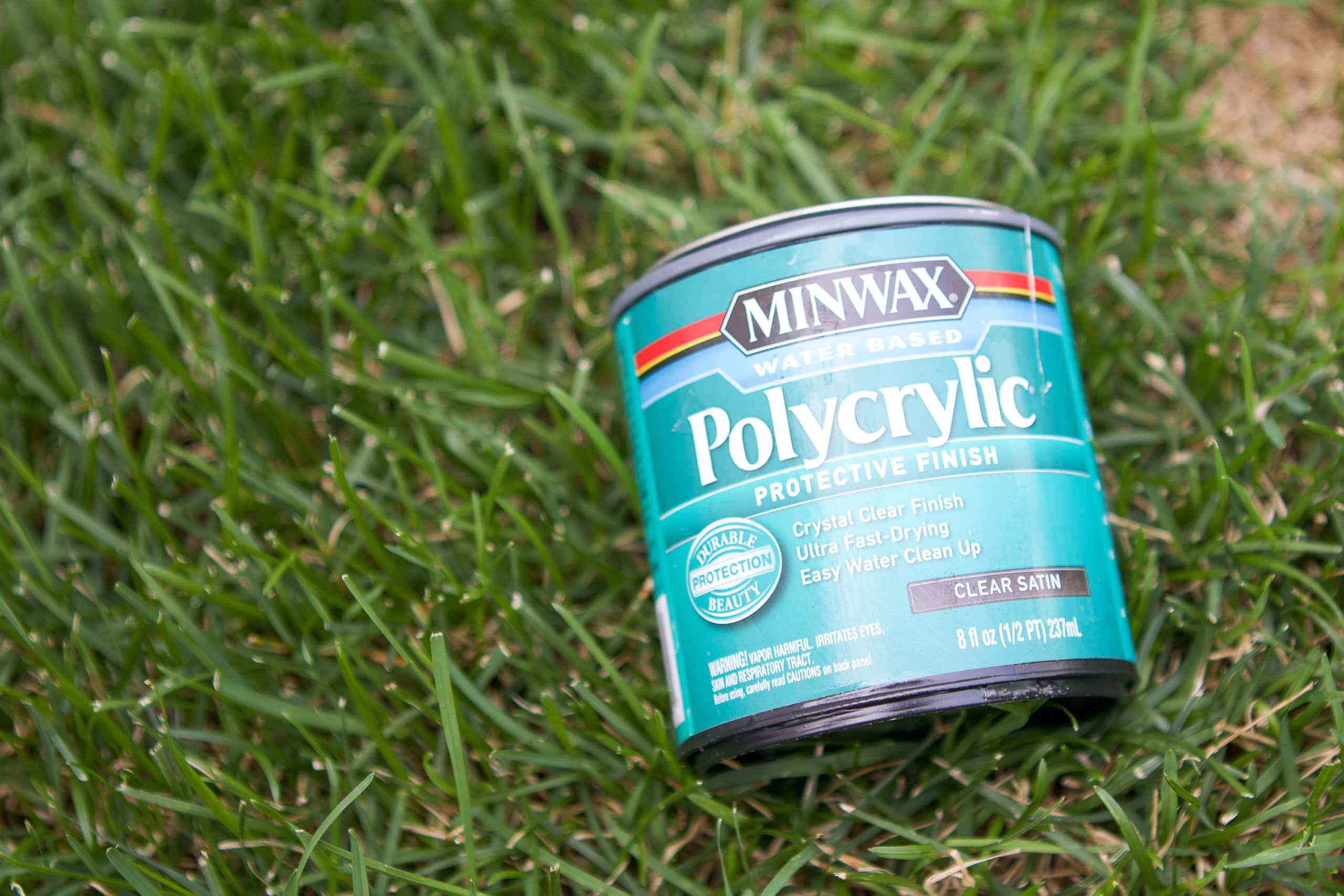Polycrylic sealer for cornhole boards