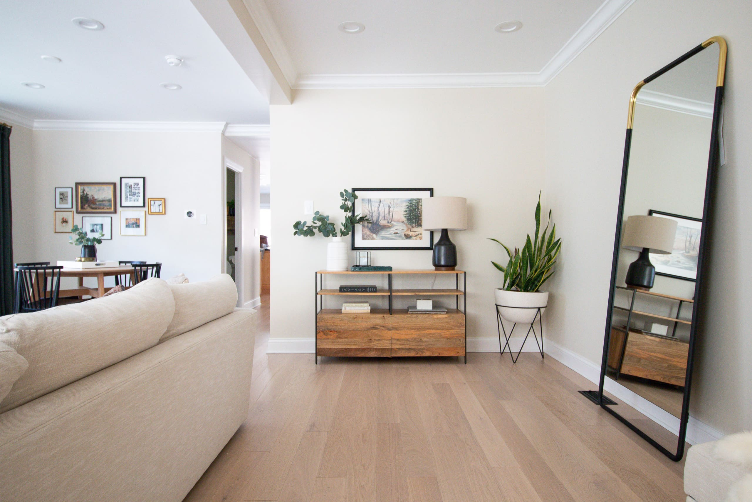 Our white oak floors in our living room