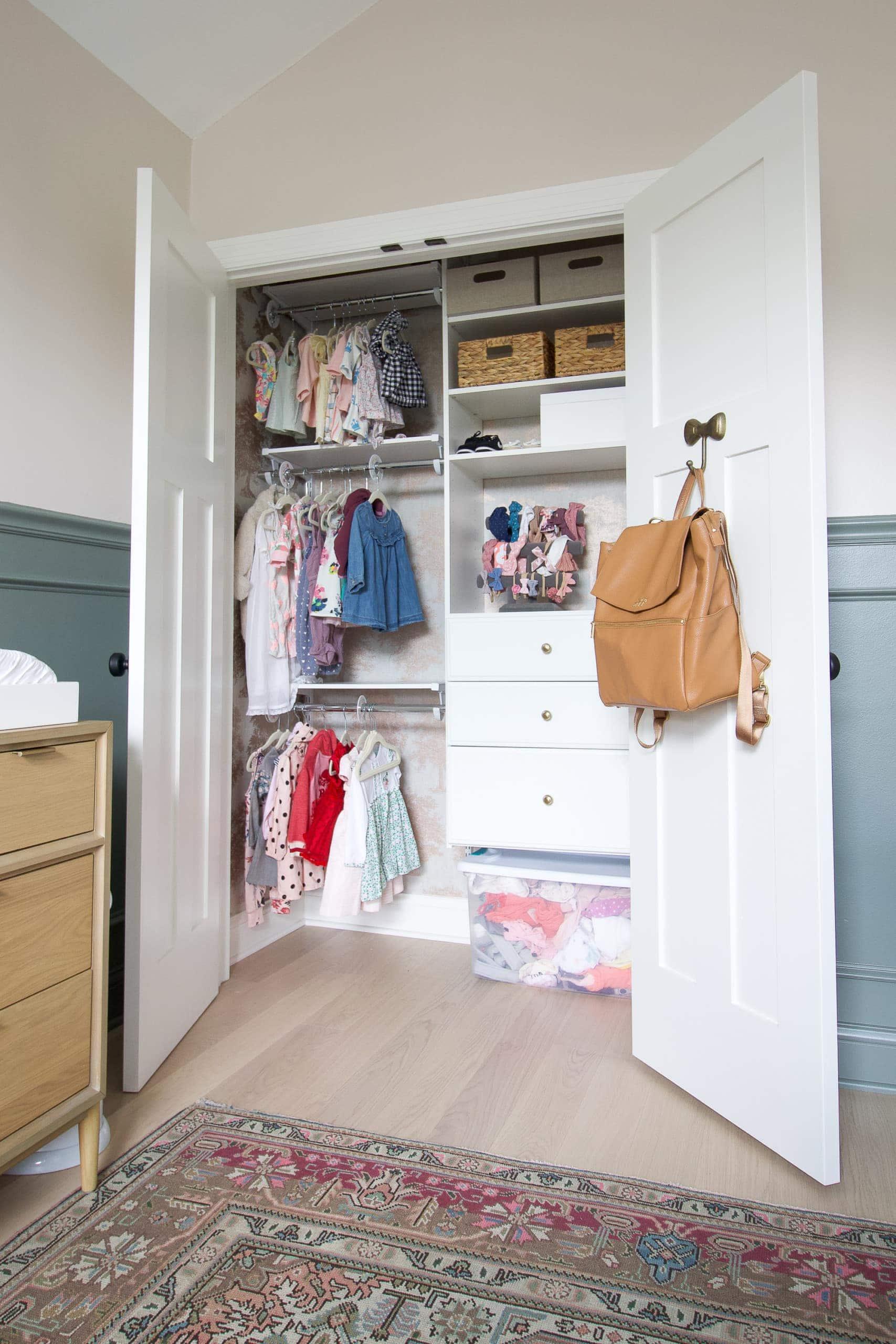 Nursery Updates- redoing a closet