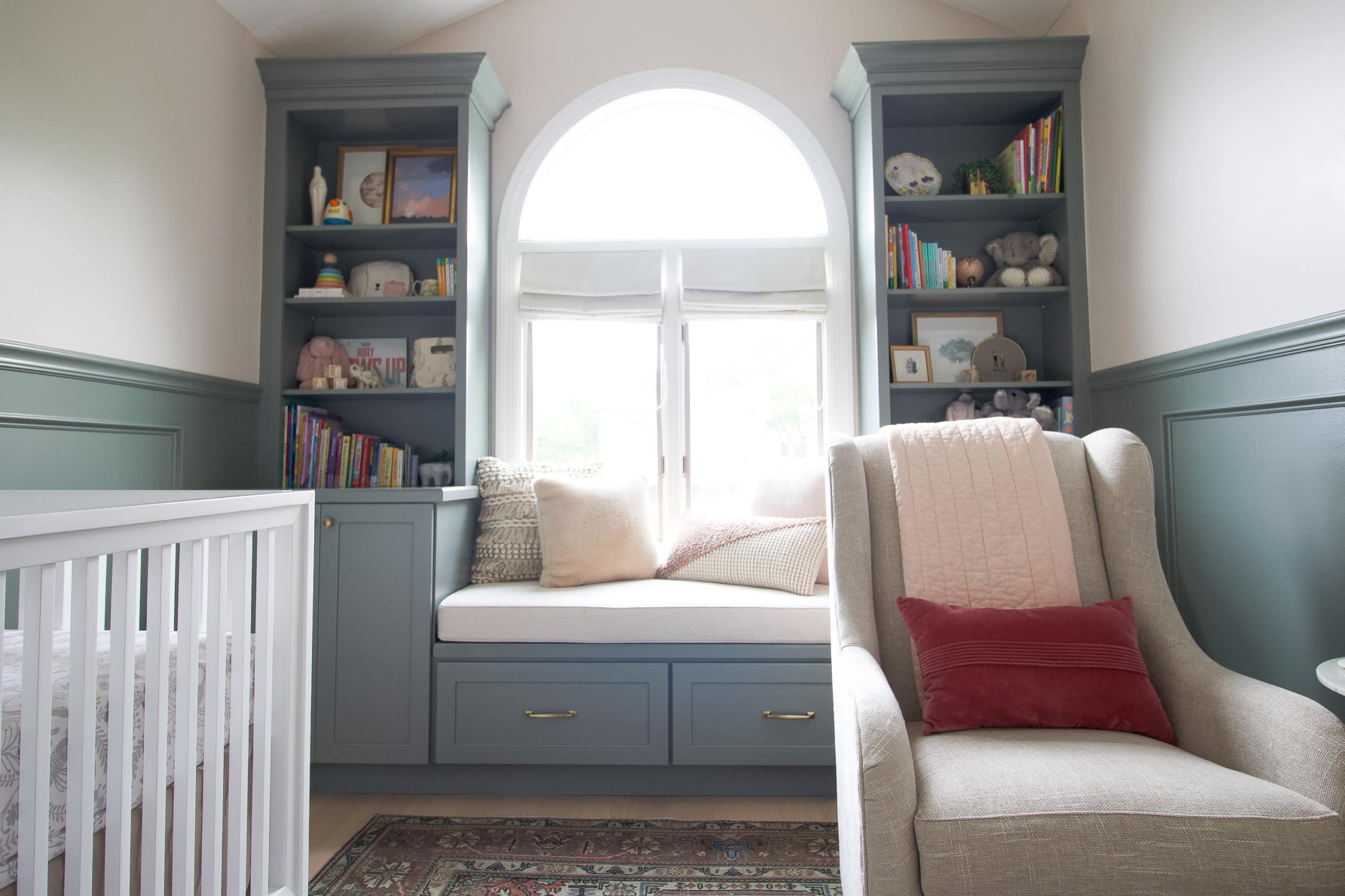 the built-ins in rorys nursery