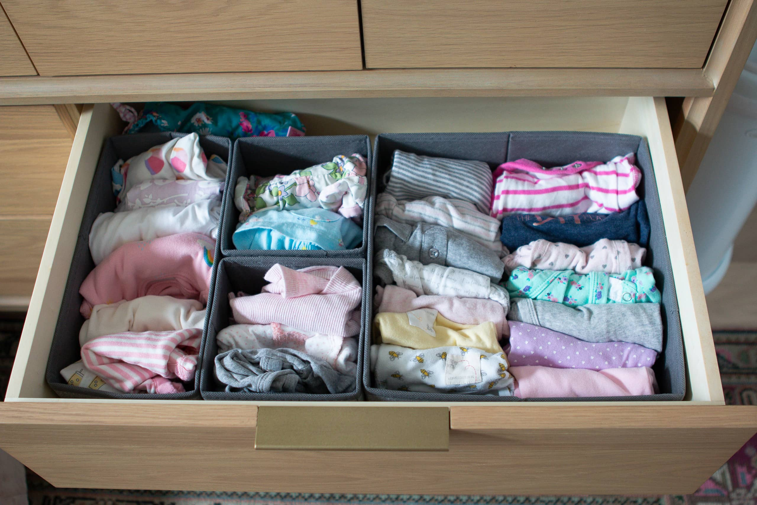 How to organize your nursery dresser