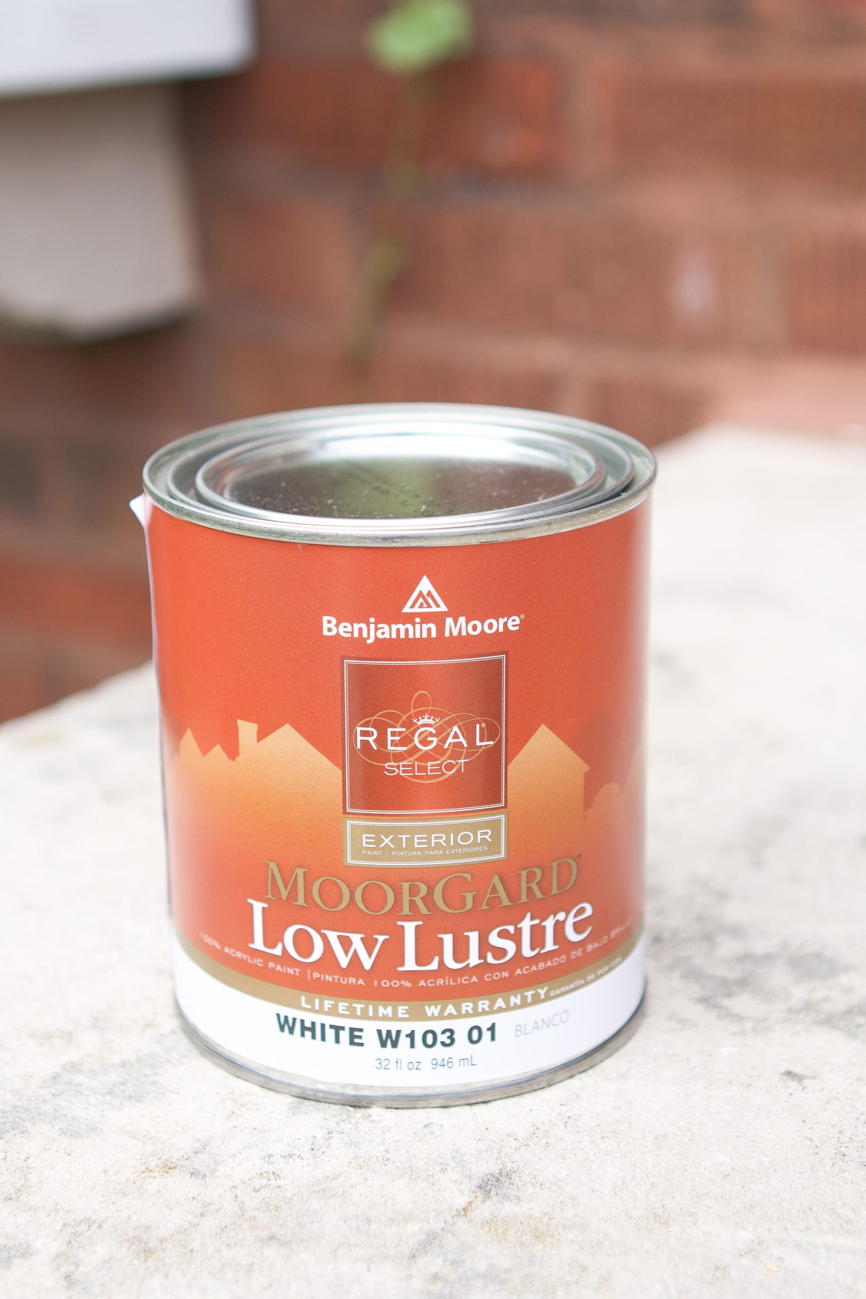 Low lustre paint from Benjamin Moore
