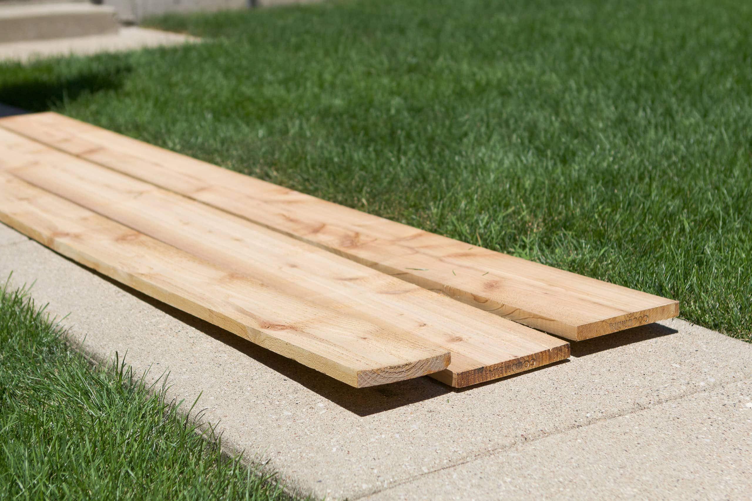 Wood used to build a window box
