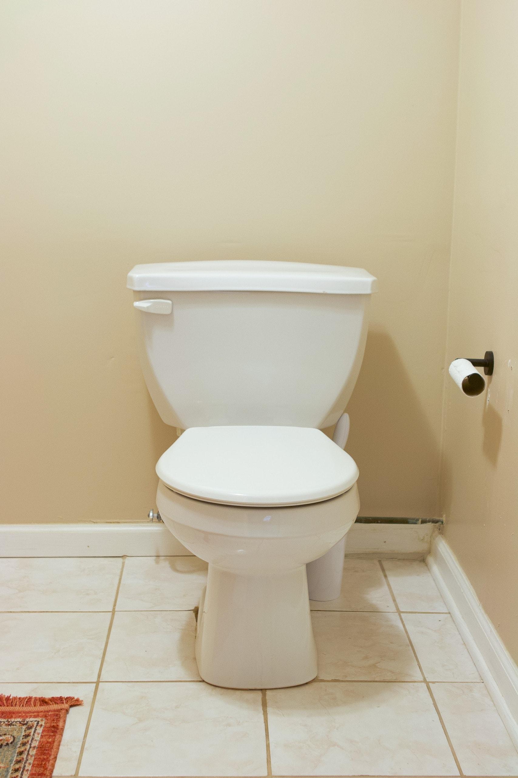 Adding a new black toilet seat