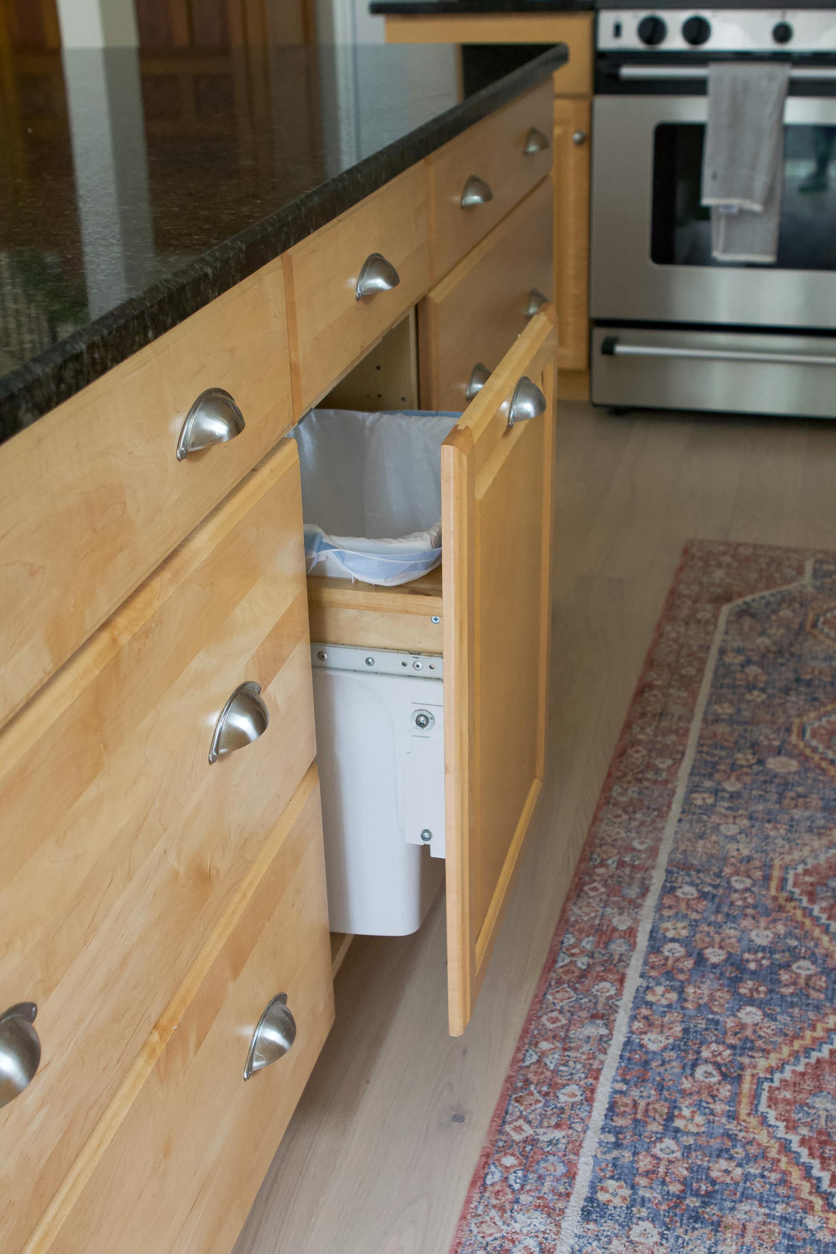 Our ghost garbage can