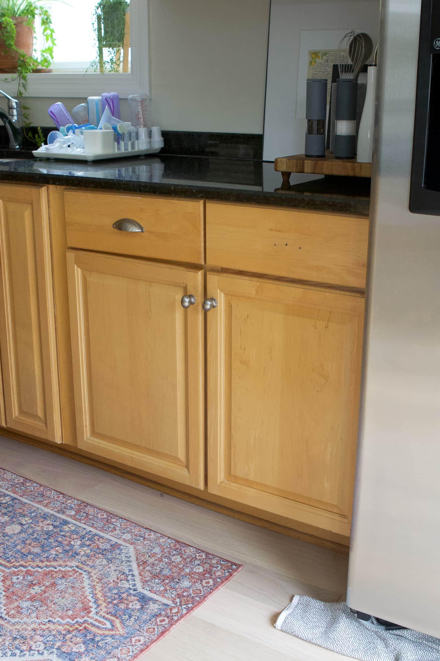 Cabinets over a basement walkout