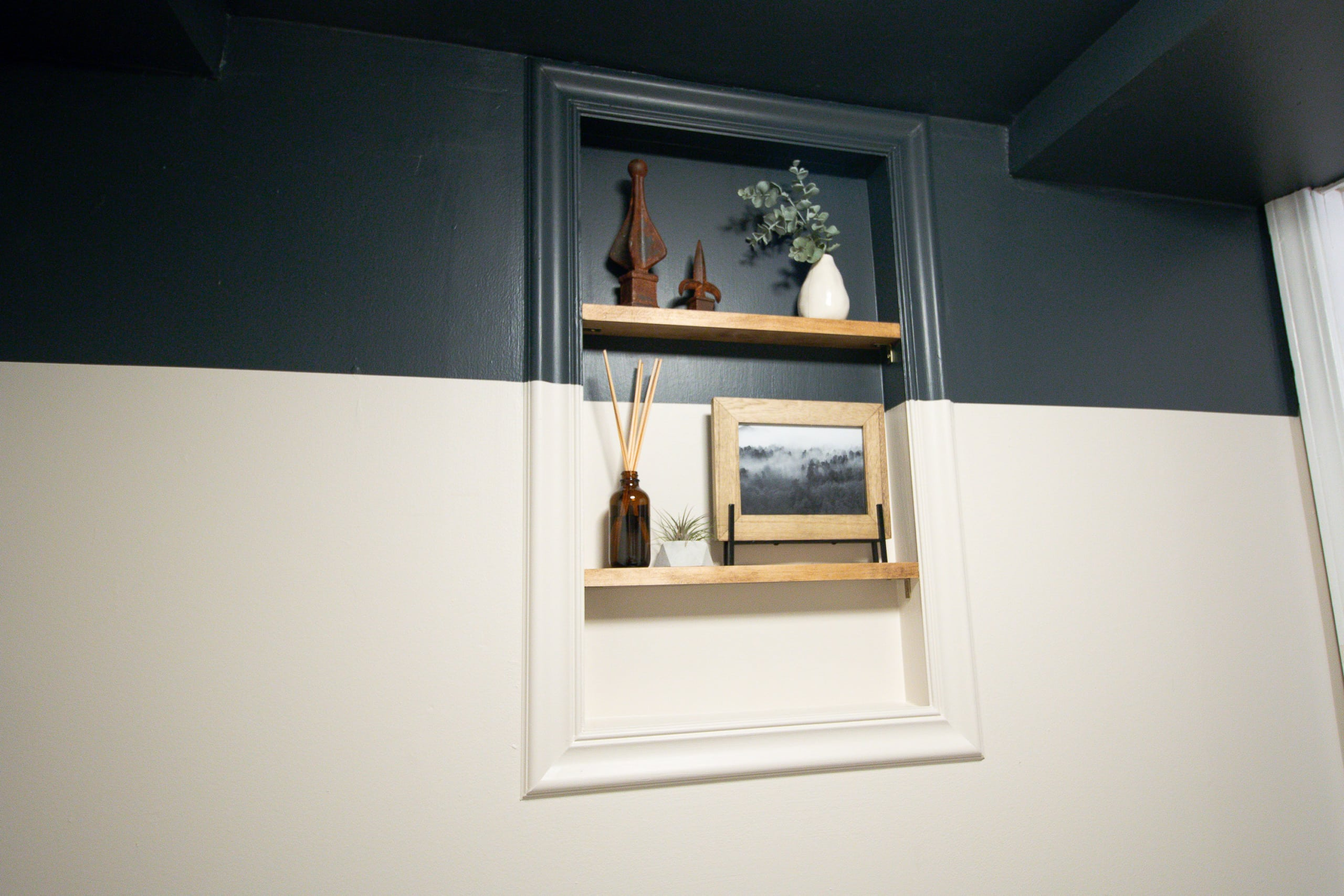 Our new window shelves in the bathroom