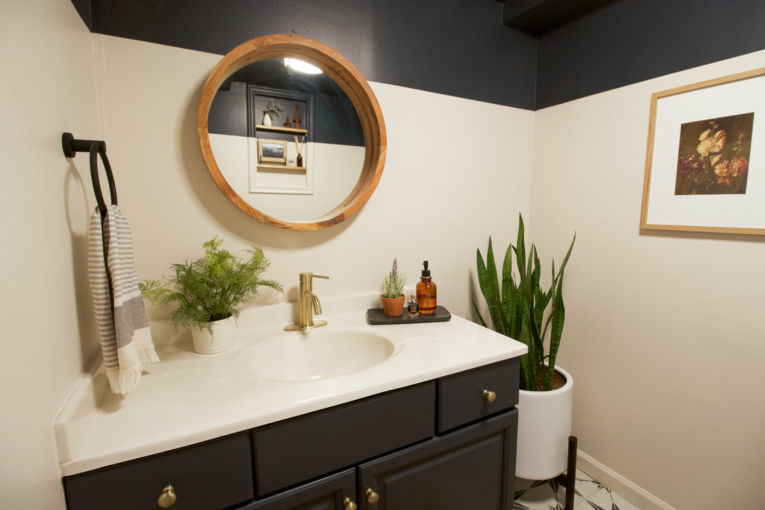 Our new basement bathroom makeover