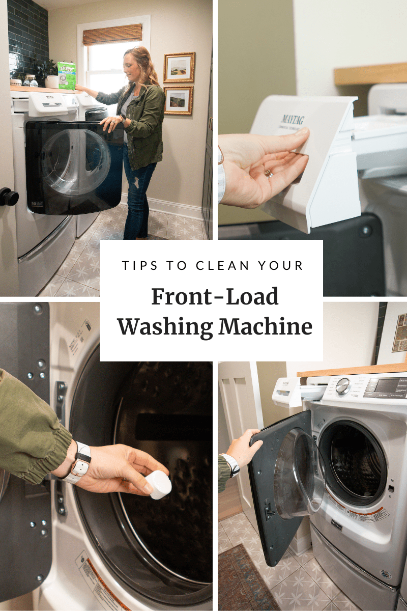 tips to clean a front-load washing machine