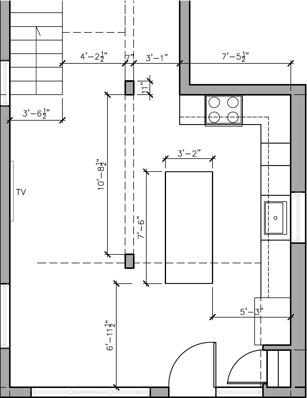 kitchen layout before