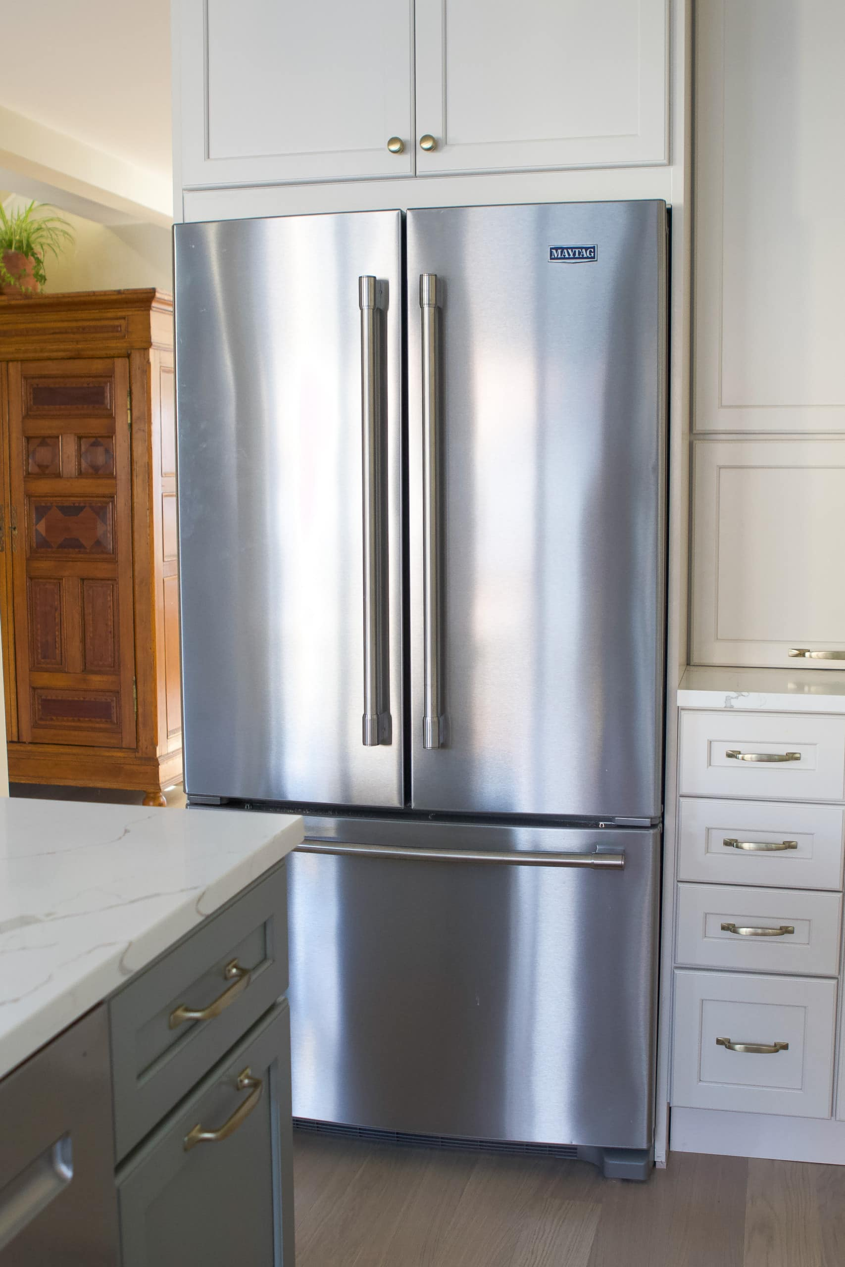 Our new kitchen appliances have fingerprint resistant stainless steel