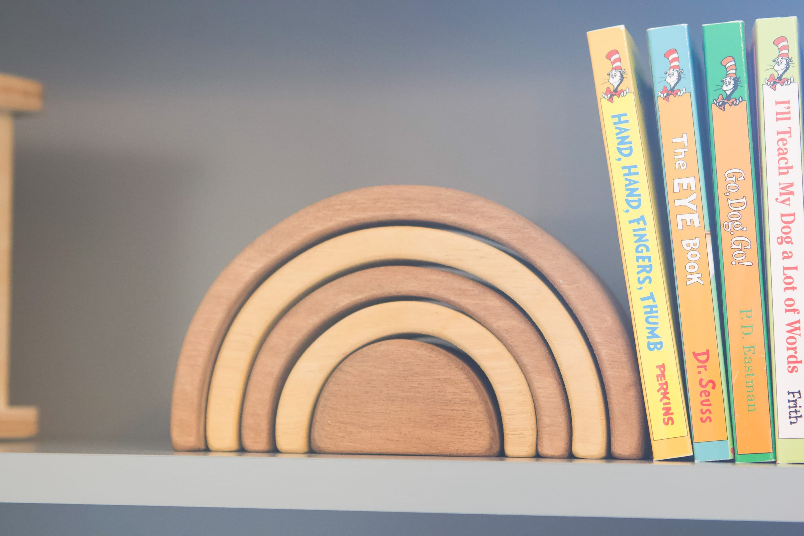 Wood rainbow toy from Amazon Handmade