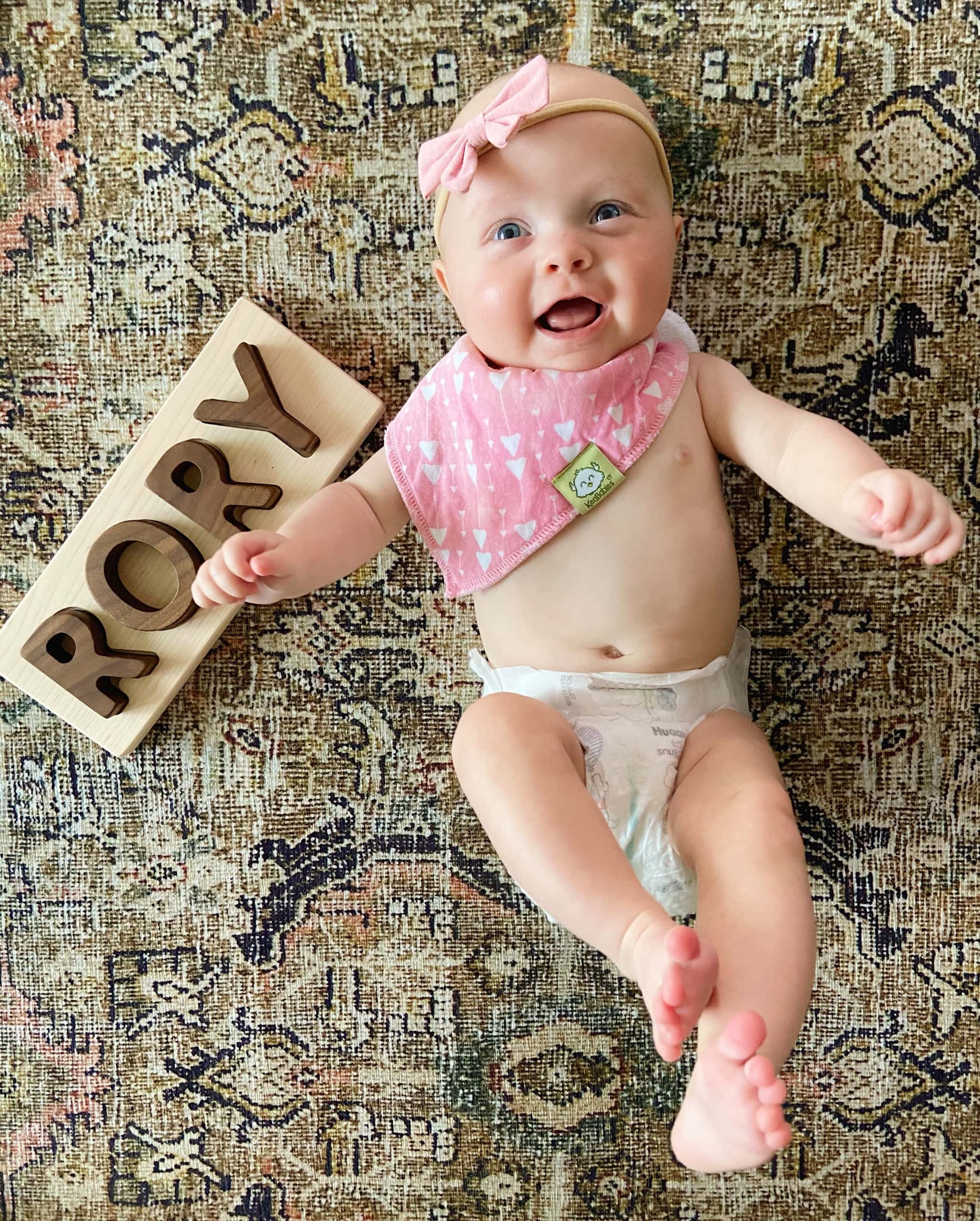 Rory with her wood puzzle