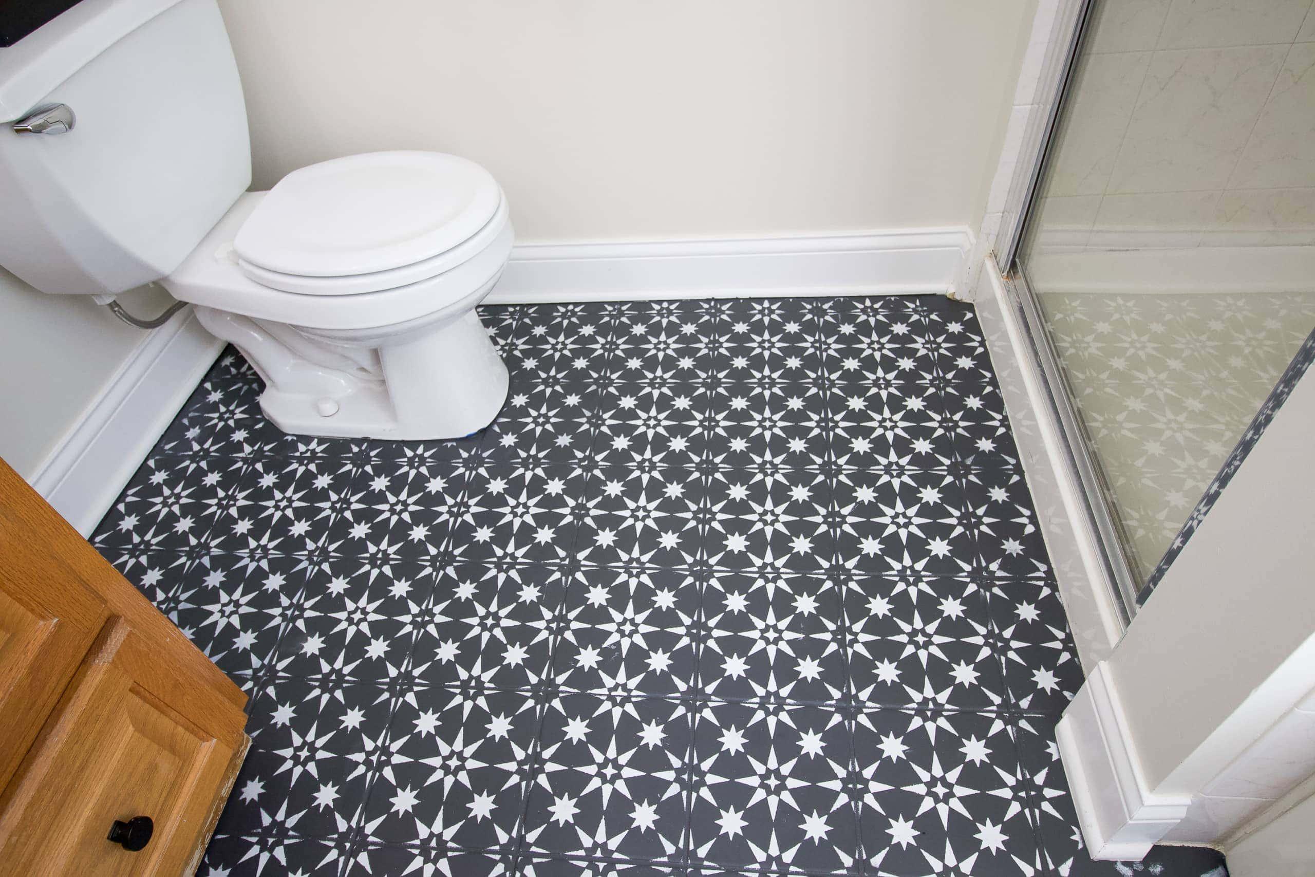 Stencil floor tile