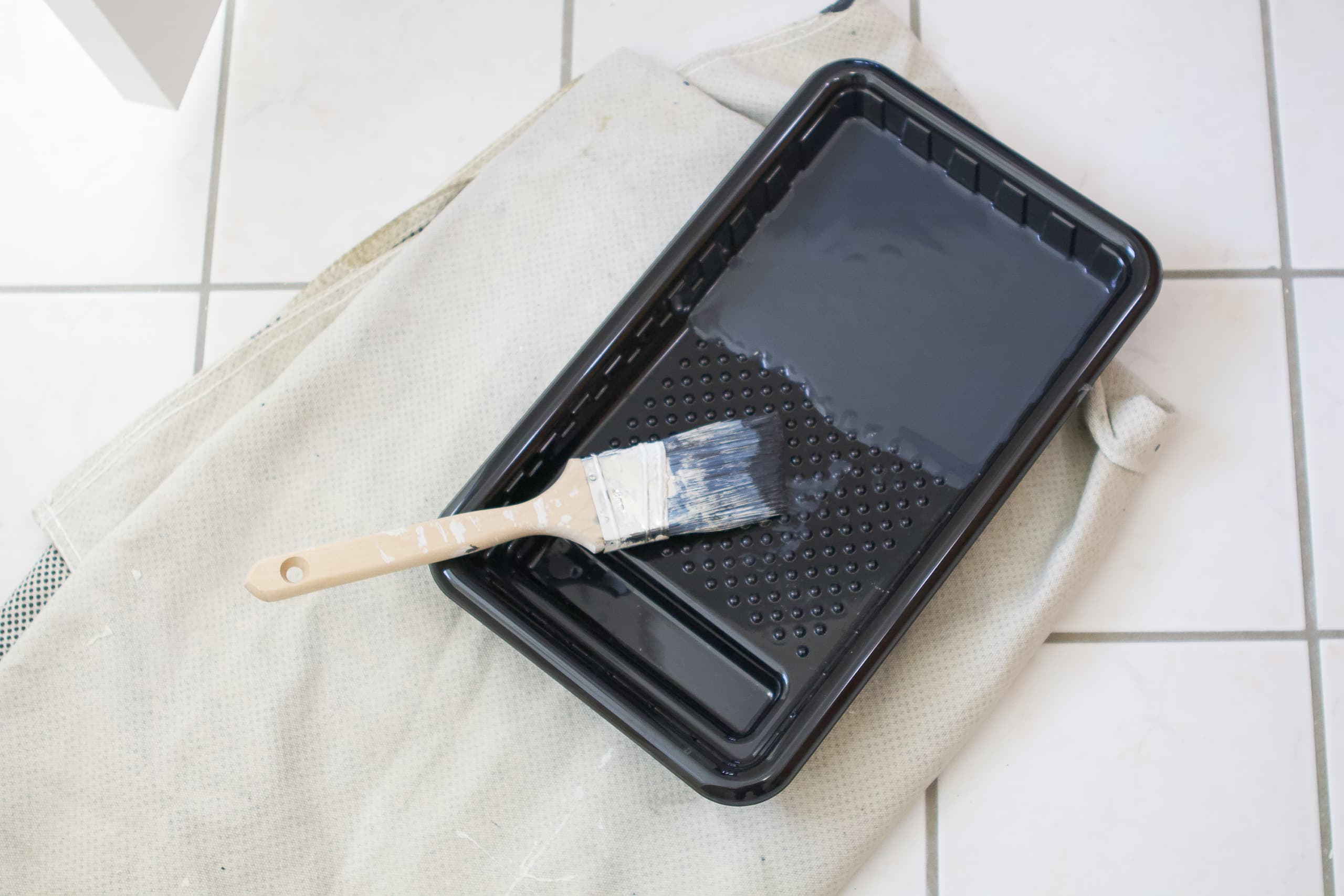 Don't wait to clean your paint brush