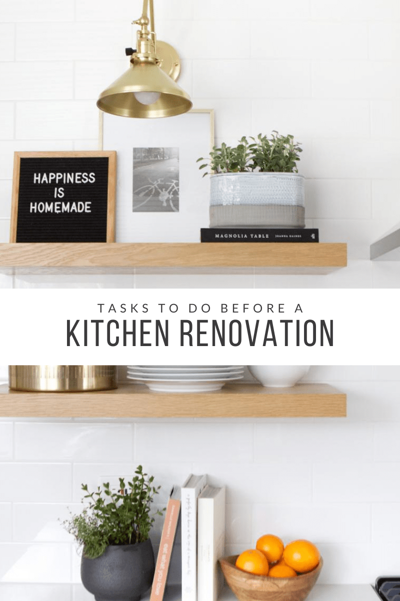 tasks to do before a kitchen renovation
