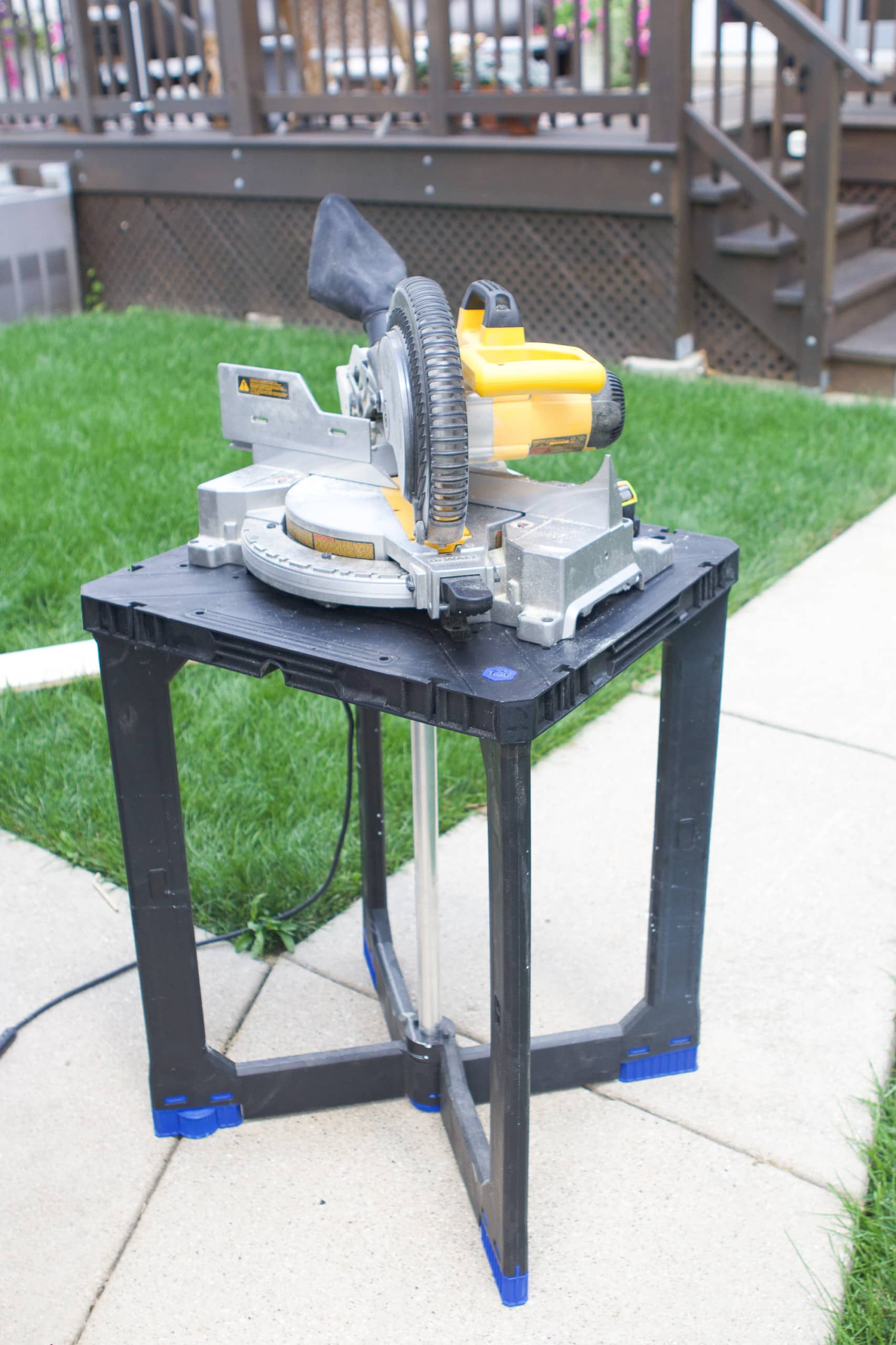 Setting up a miter saw to make simple wood shelves