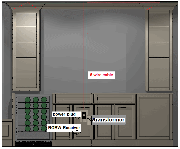 kitchen electrical plan on the dry bar