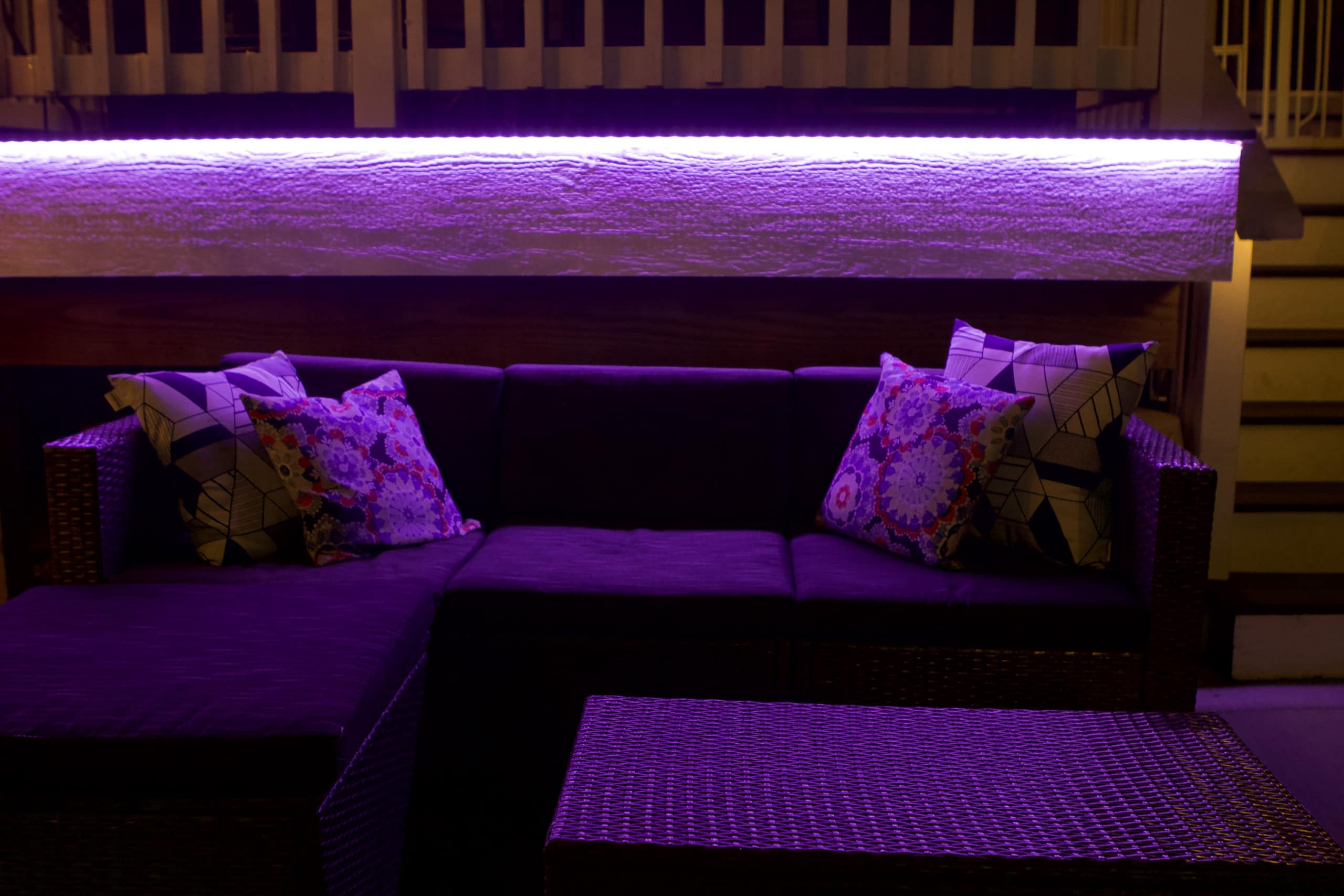 LED Light strips under the deck