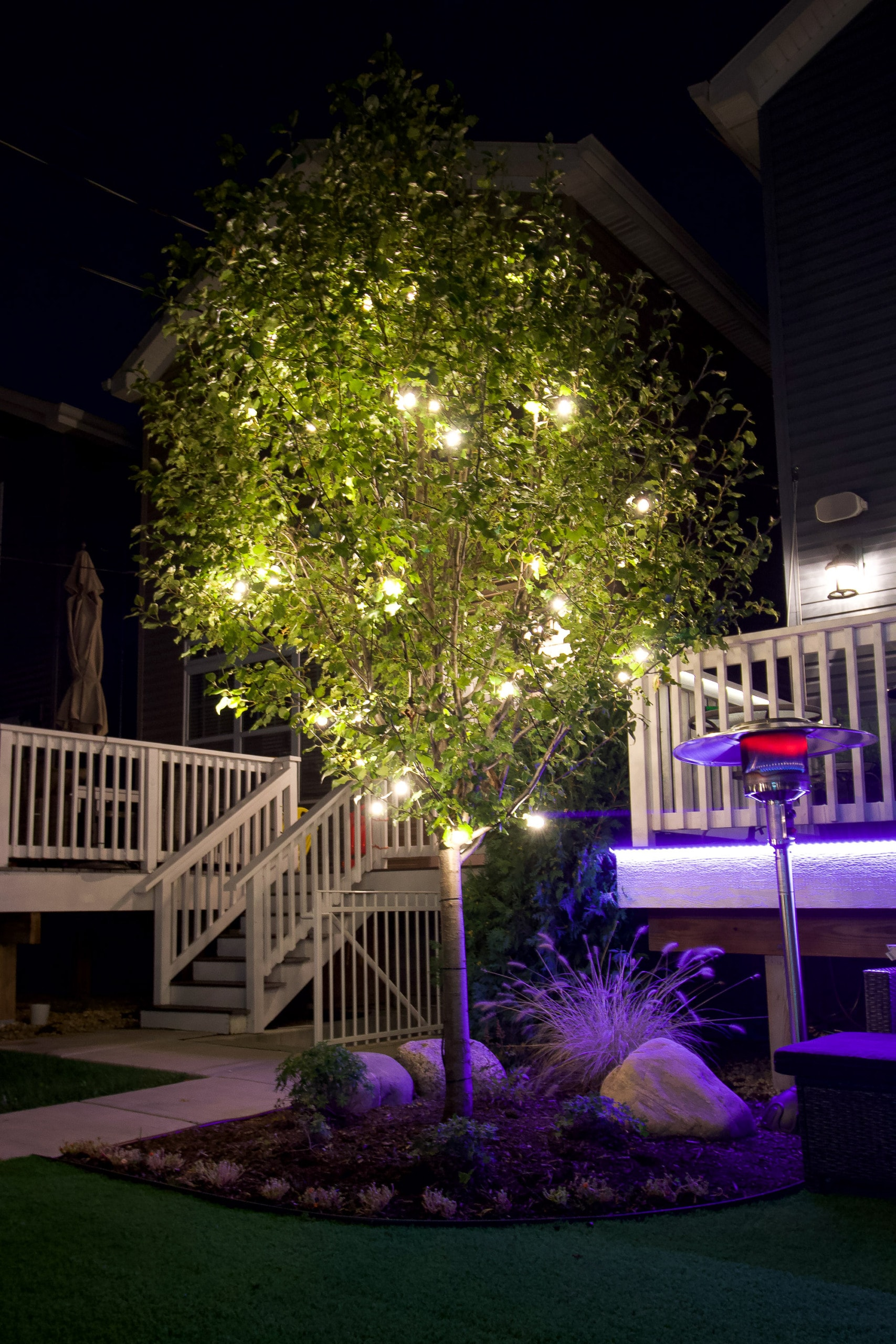 Adding lighting to create a beautiful outdoor room