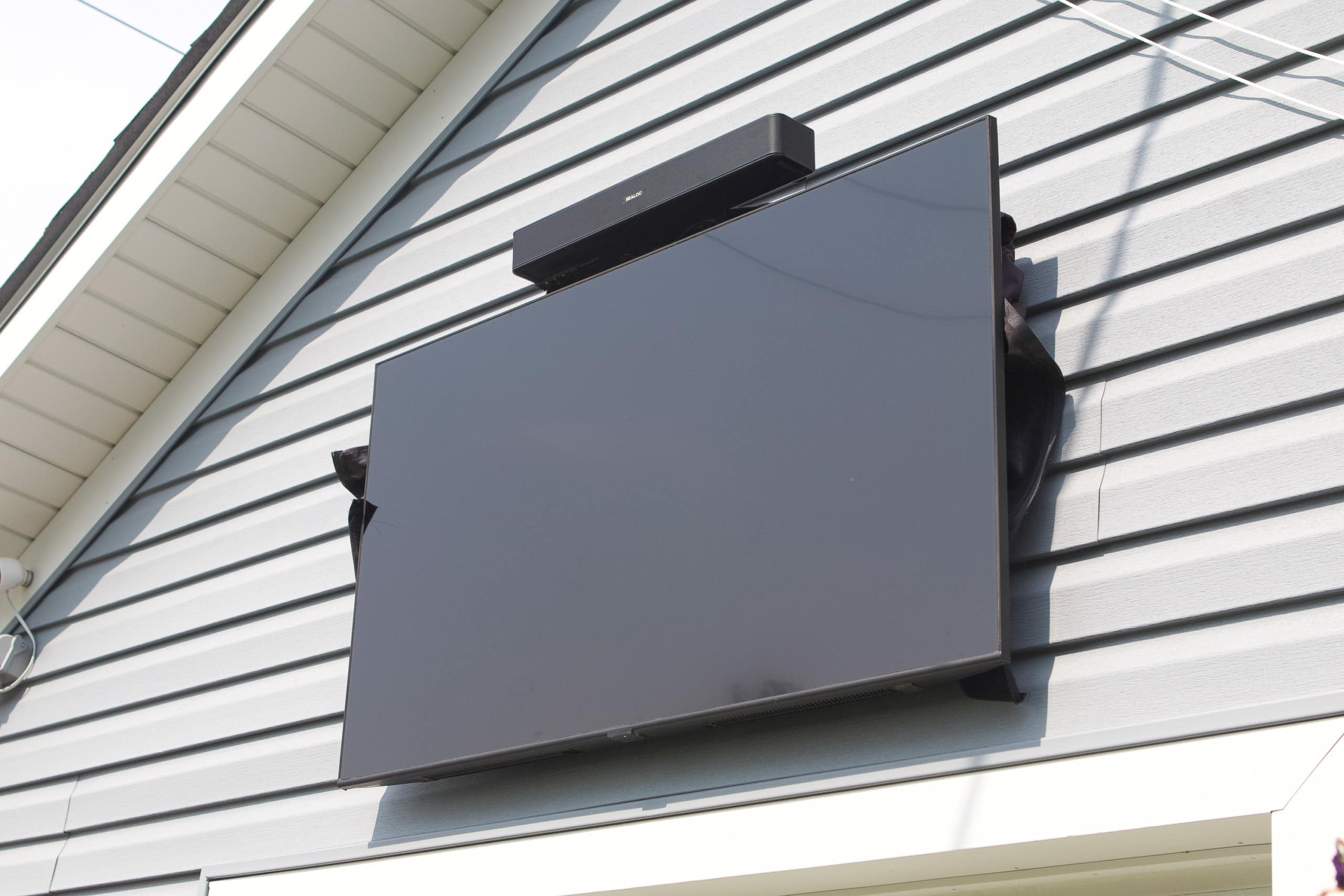 Outdoor TV in an outdoor room