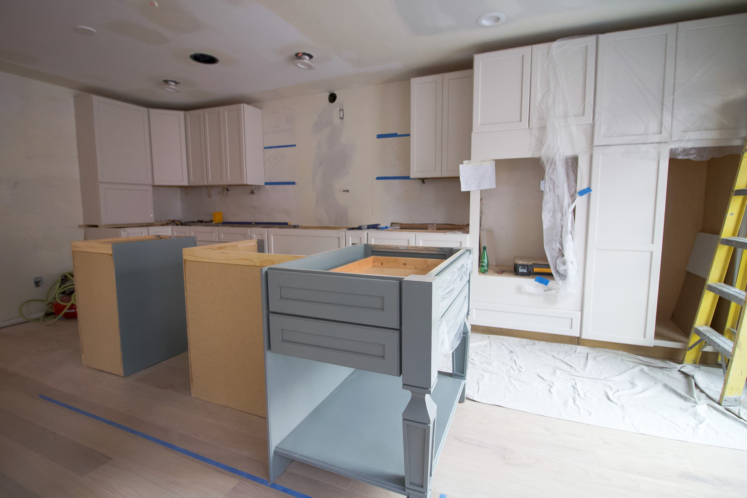 Our kitchen cabinets are in