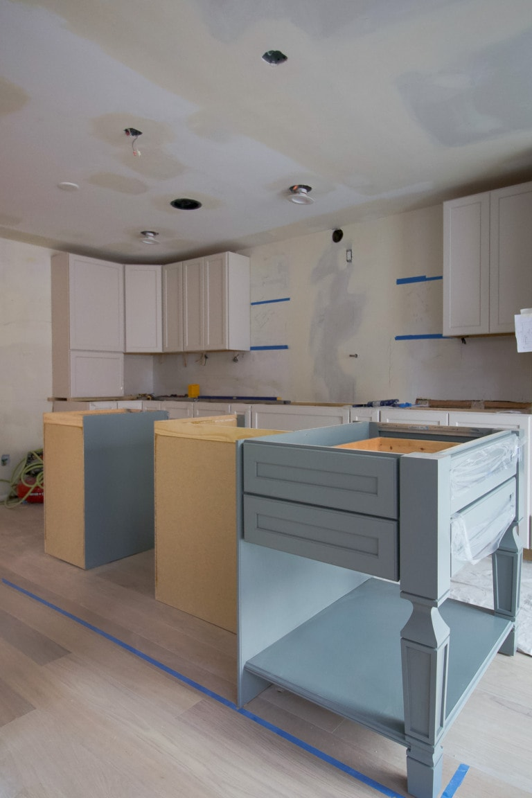 Our kitchen cabinet install