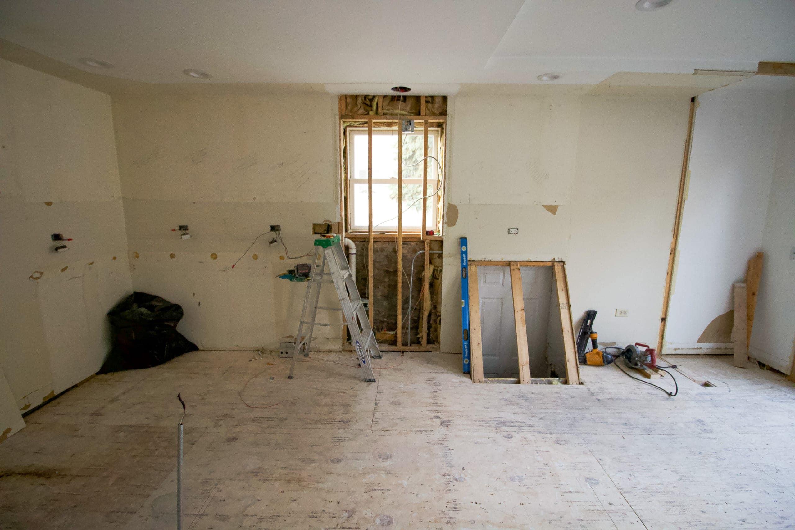 Basement door in our kitchen demo
