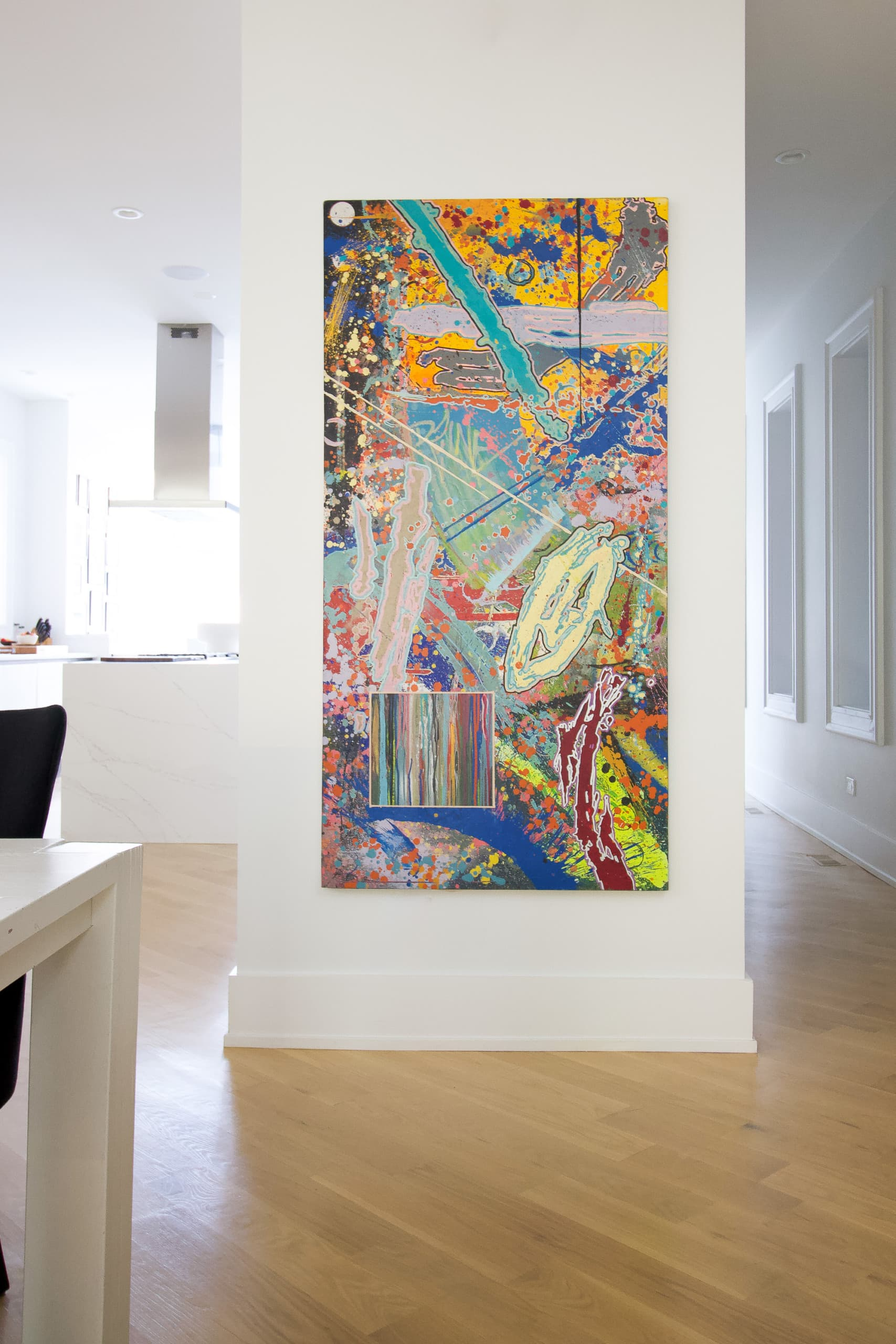 Gorgeous art in this modern home tour