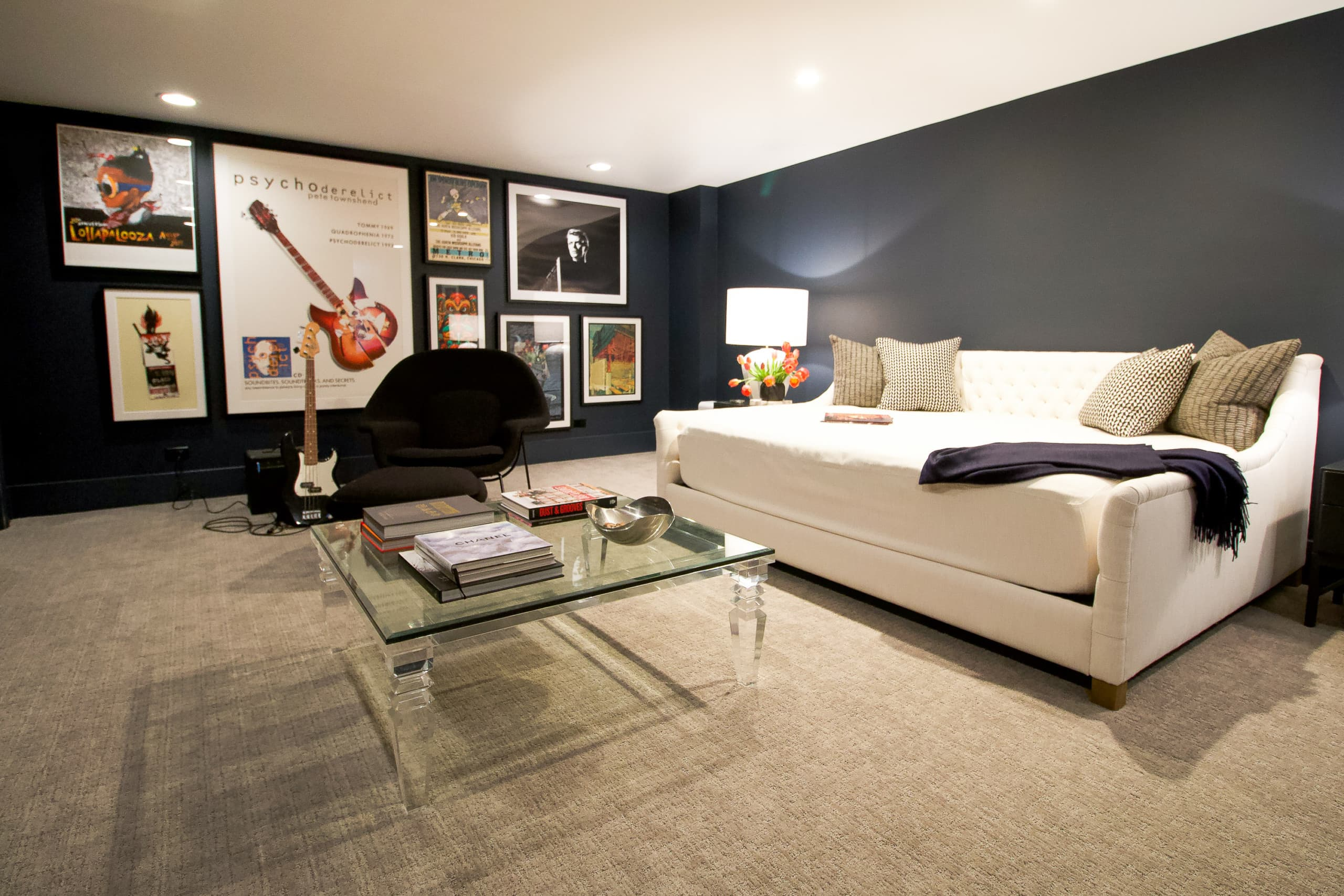 Music room in the basement