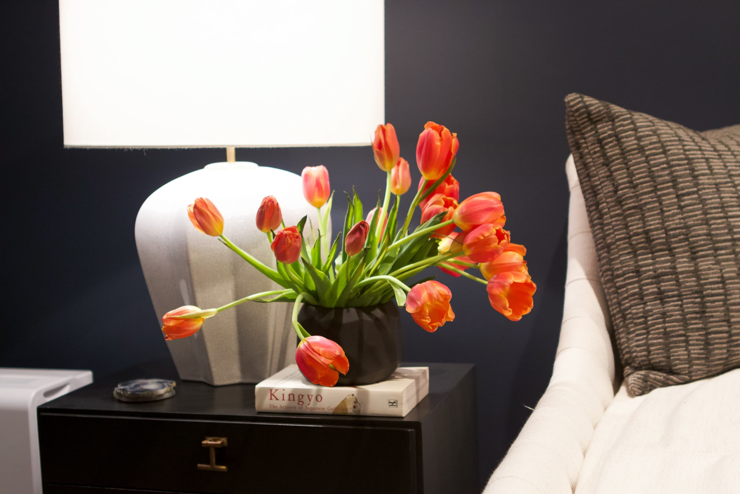 Tulips in the music room