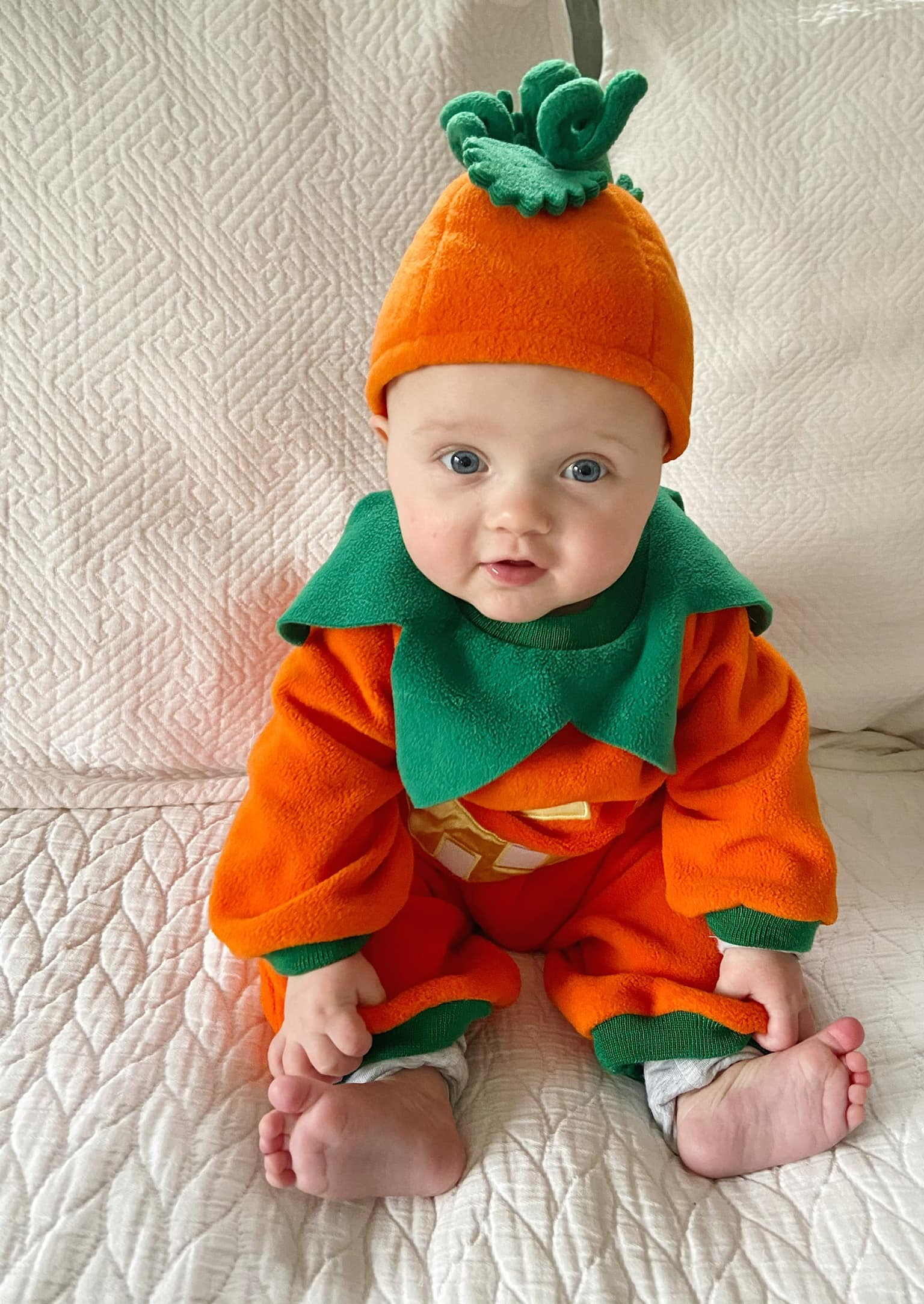 Rory as pumpkin for halloween