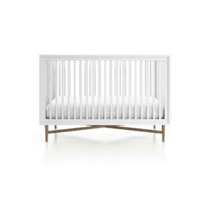 White and gold crib