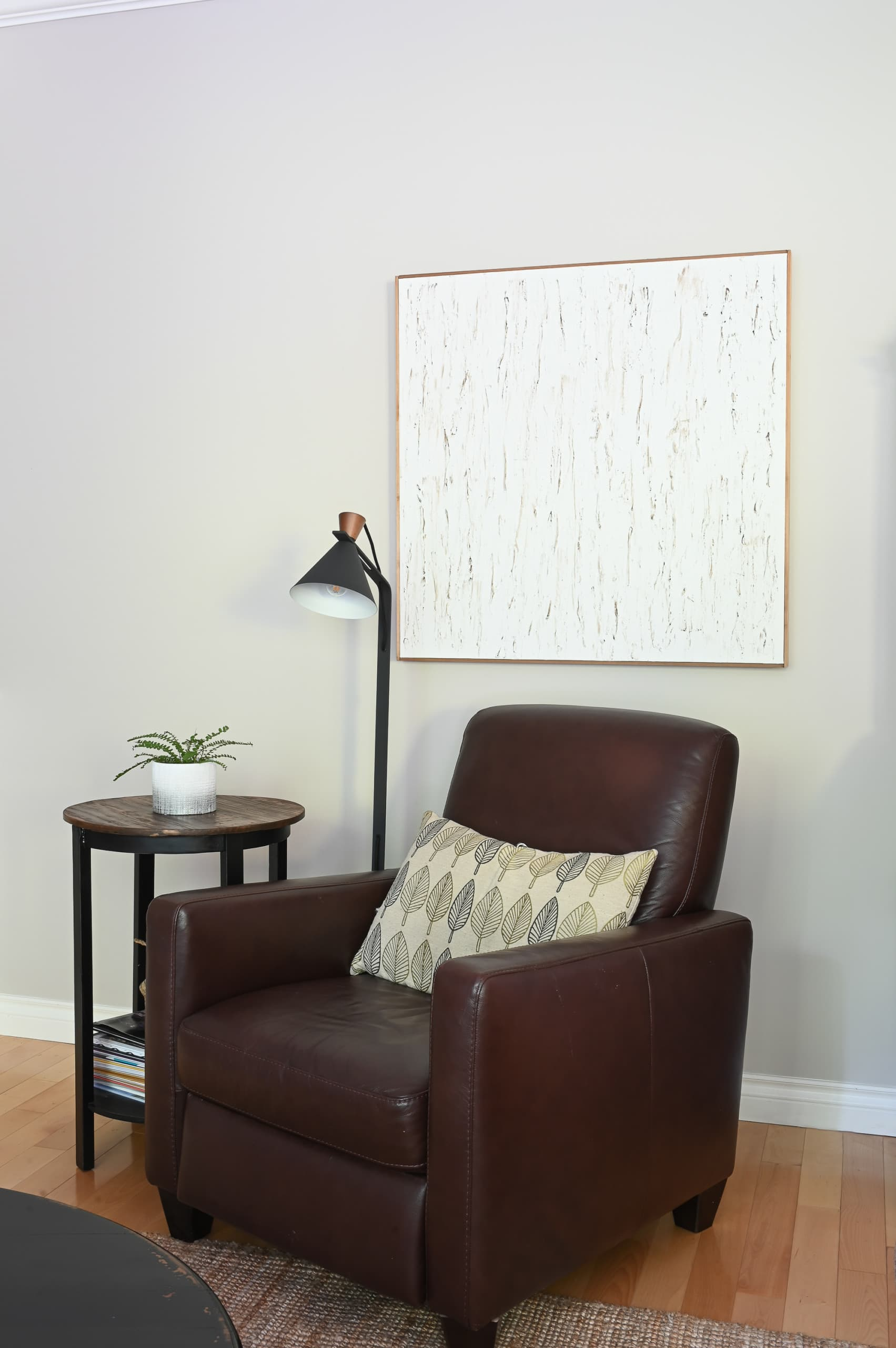 Cozy chair in a family room