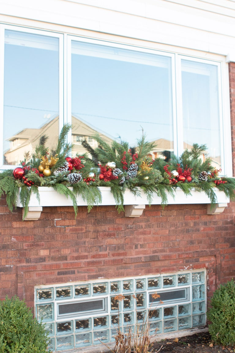 Creating a holiday window box