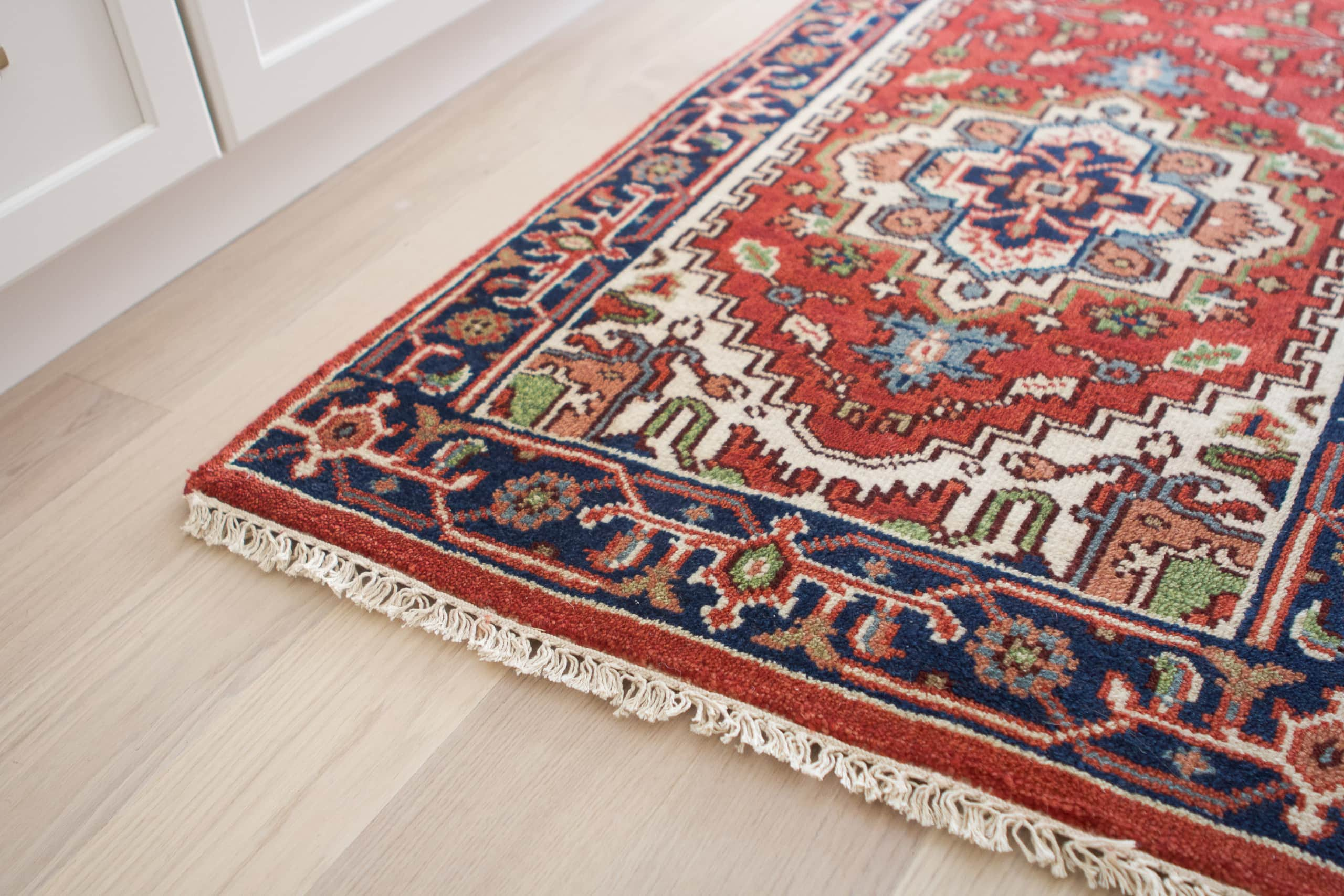 Finding a colorful rug from India