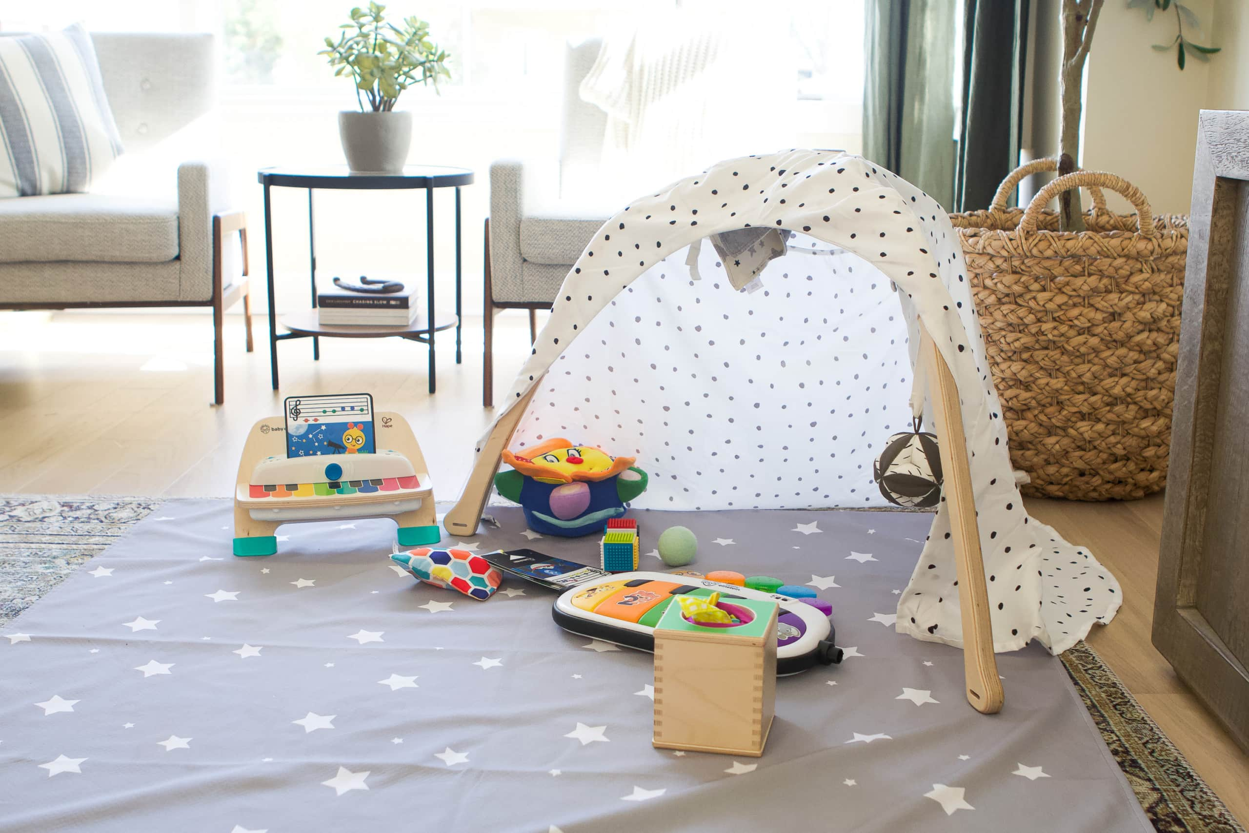 Rory's play area in the living room